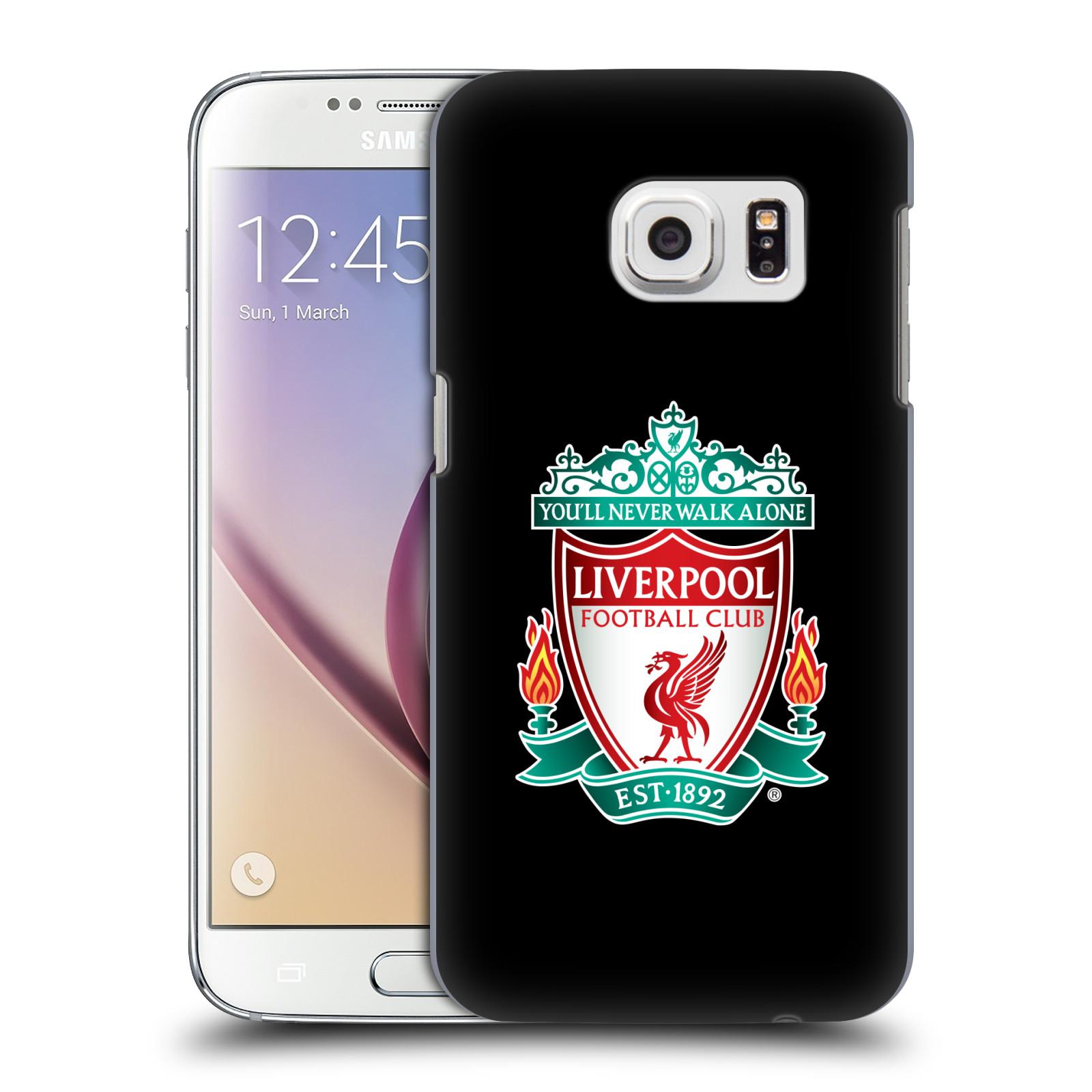 Plastové pouzdro na mobil Samsung Galaxy S7 HEAD CASE ZNAK LIVERPOOL FC OFFICIAL BLACK (Kryt či obal na mobilní telefon Liverpool FC Official pro Samsung Galaxy S7 SM-G930F)