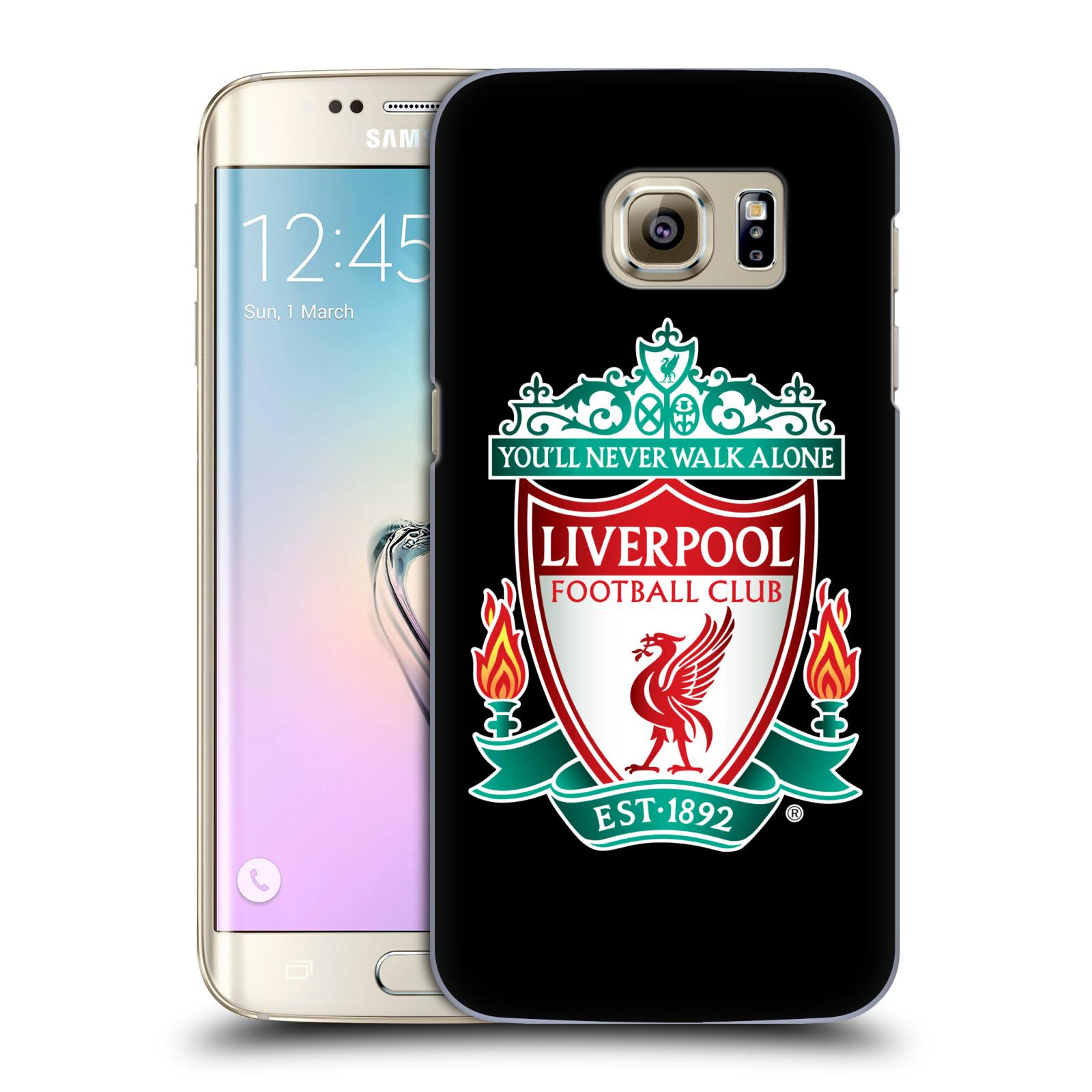Plastové pouzdro na mobil Samsung Galaxy S7 Edge HEAD CASE ZNAK LIVERPOOL FC OFFICIAL BLACK (Kryt či obal na mobilní telefon Liverpool FC Official pro Samsung Galaxy S7 Edge SM-G935F)
