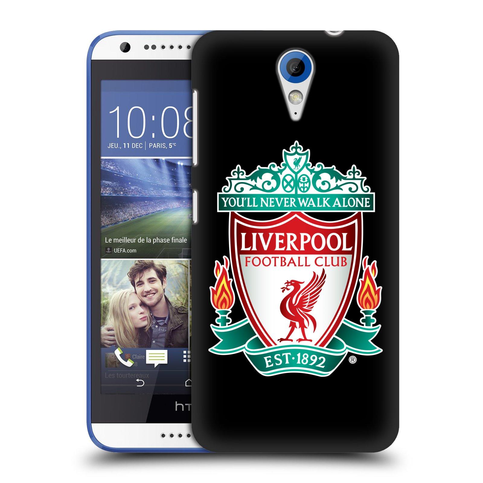 Plastové pouzdro na mobil HTC Desire 620 HEAD CASE ZNAK LIVERPOOL FC OFFICIAL BLACK (Kryt či obal na mobilní telefon Liverpool FC Official pro HTC Desire 620)