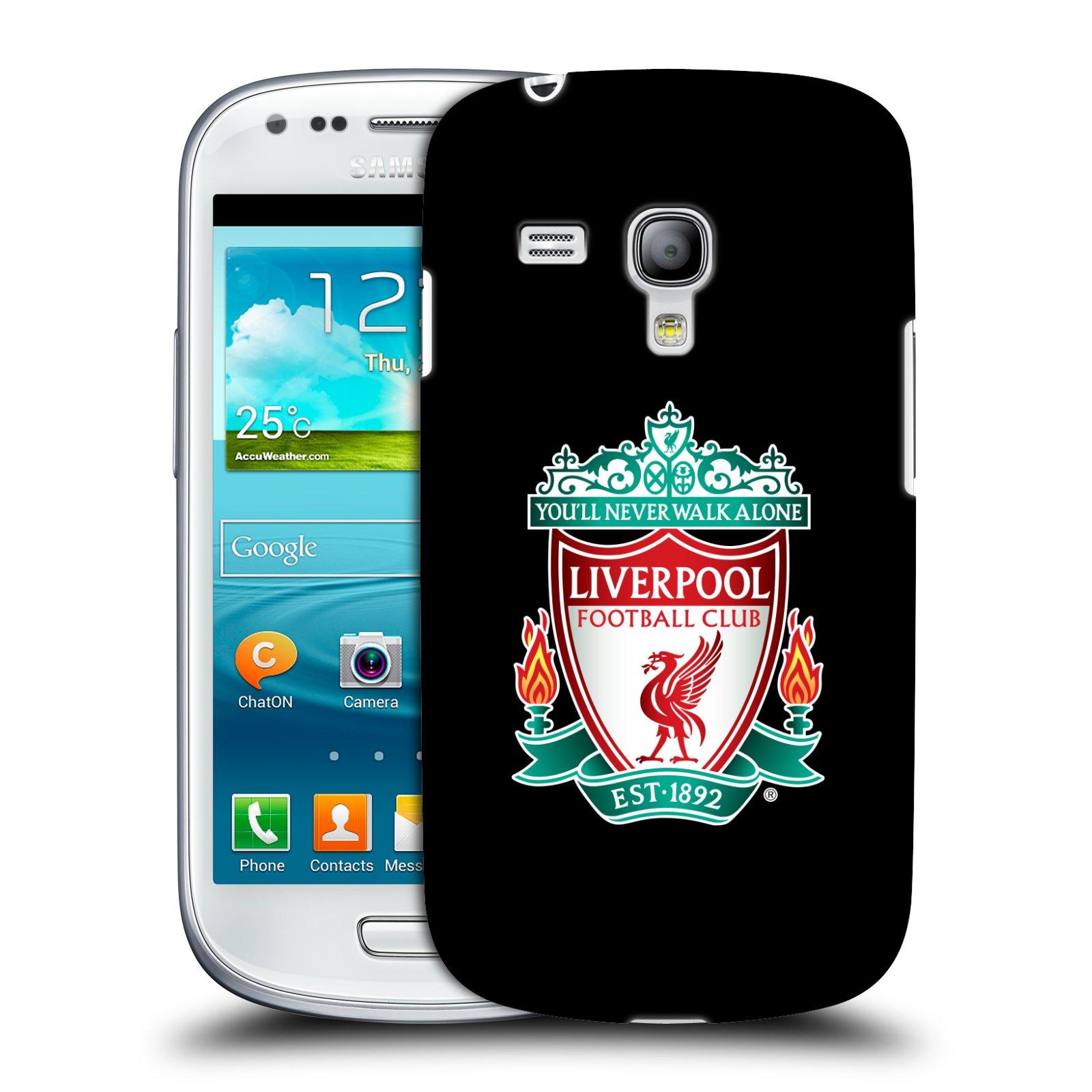 Plastové pouzdro na mobil Samsung Galaxy S3 Mini VE HEAD CASE ZNAK LIVERPOOL FC OFFICIAL BLACK (Kryt či obal na mobilní telefon Liverpool FC Official pro Samsung Galaxy S3 Mini VE GT-i8200)