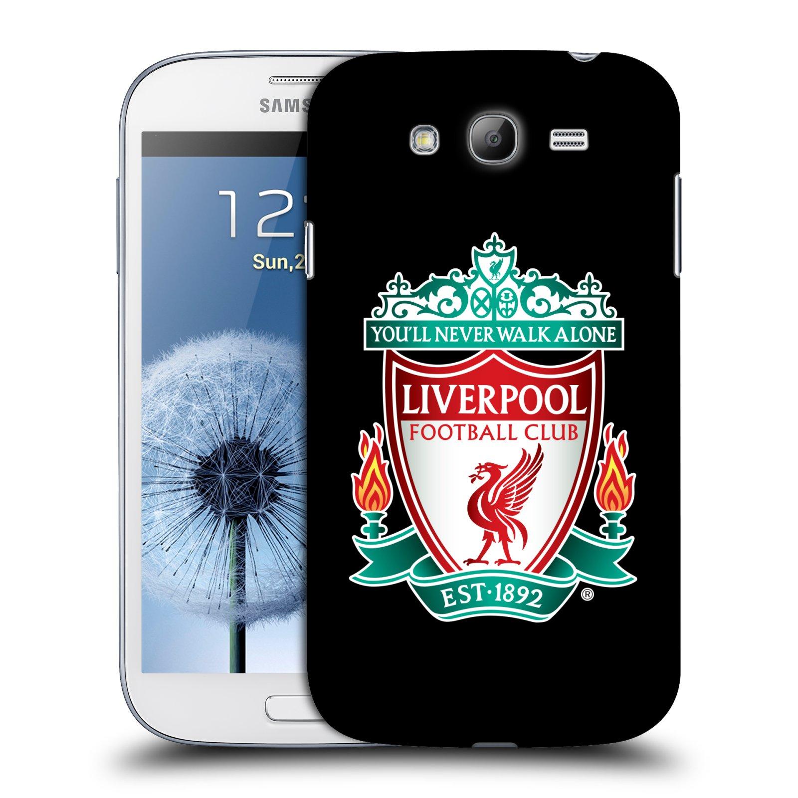 Plastové pouzdro na mobil Samsung Galaxy Grand Neo HEAD CASE ZNAK LIVERPOOL FC OFFICIAL BLACK (Kryt či obal na mobilní telefon Liverpool FC Official pro Samsung Galaxy Grand Neo GT-i9060)