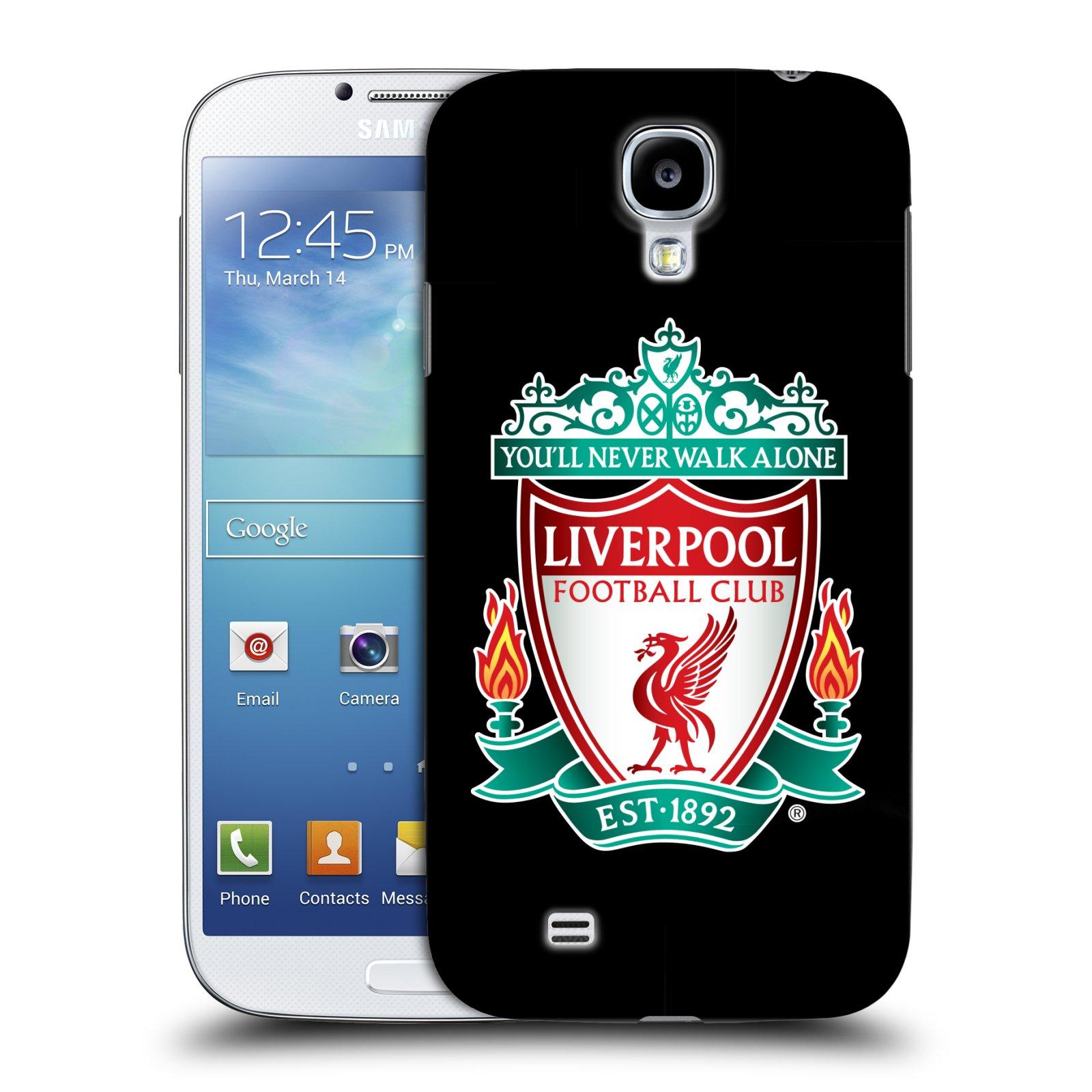 Plastové pouzdro na mobil Samsung Galaxy S4 HEAD CASE ZNAK LIVERPOOL FC OFFICIAL BLACK (Kryt či obal na mobilní telefon Liverpool FC Official pro Samsung Galaxy S4 GT-i9505 / i9500)