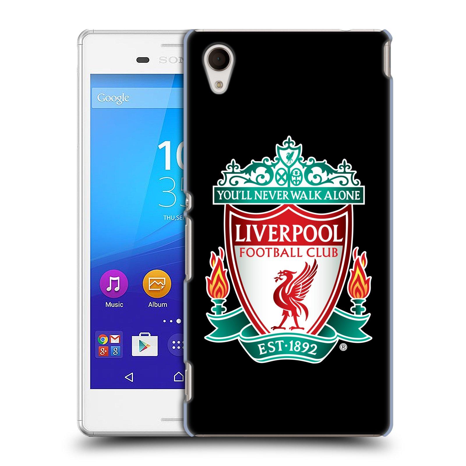 Plastové pouzdro na mobil Sony Xperia M4 Aqua E2303 HEAD CASE ZNAK LIVERPOOL FC OFFICIAL BLACK (Kryt či obal na mobilní telefon Liverpool FC Official pro Sony Xperia M4 Aqua a M4 Aqua Dual SIM)