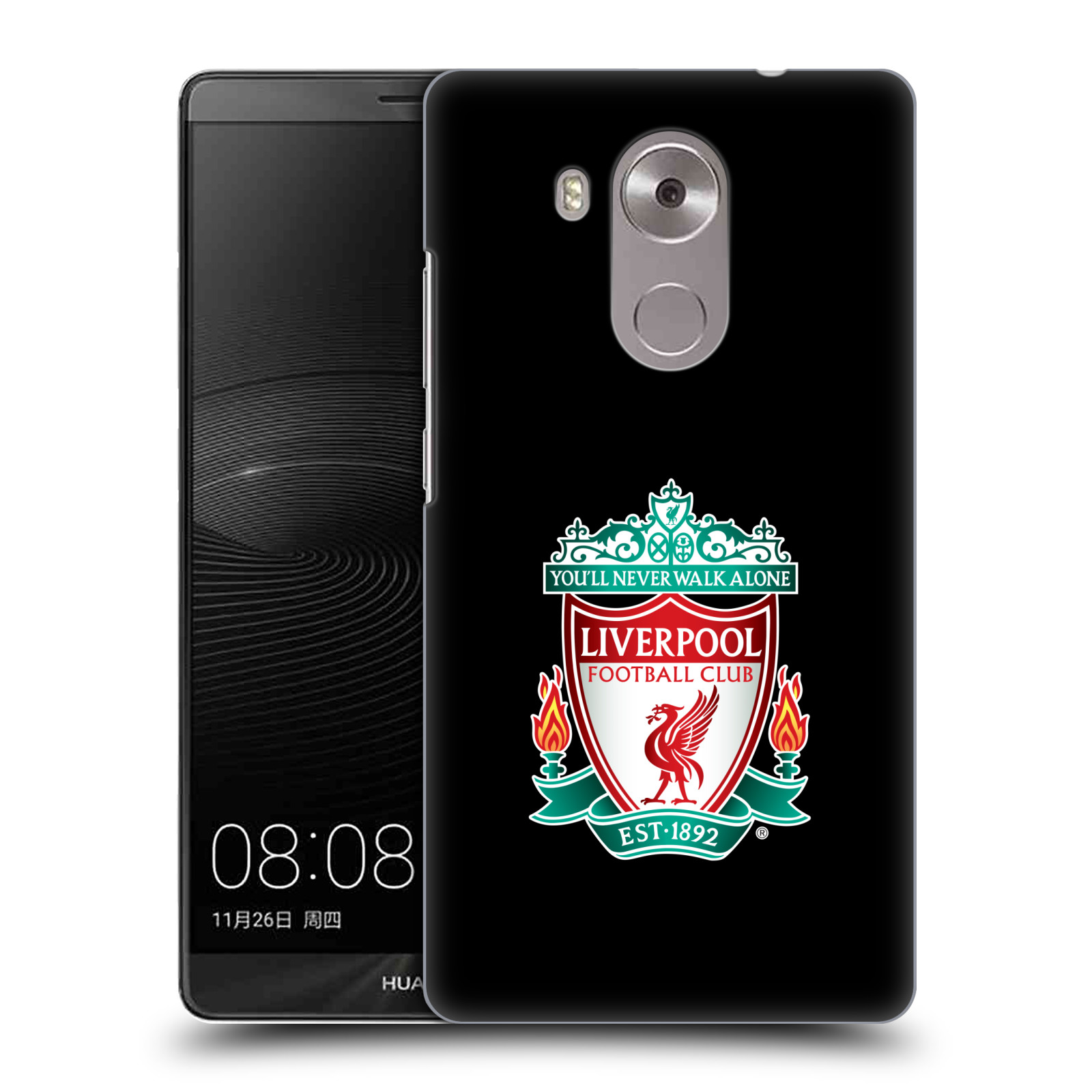 Plastové pouzdro na mobil Huawei Mate 8 HEAD CASE ZNAK LIVERPOOL FC OFFICIAL BLACK (Kryt či obal na mobilní telefon Liverpool FC Official pro Huawei Ascend MATE8)