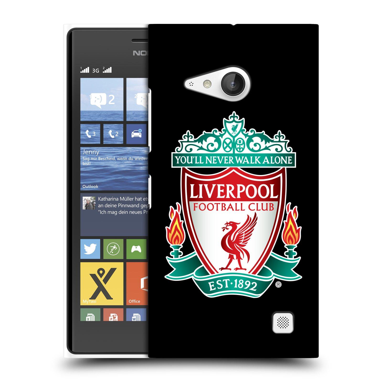 Plastové pouzdro na mobil Nokia Lumia 735 HEAD CASE ZNAK LIVERPOOL FC OFFICIAL BLACK (Kryt či obal na mobilní telefon Liverpool FC Official pro Nokia Lumia 735)