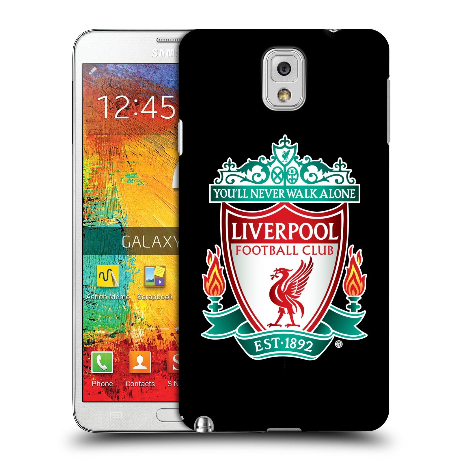 Plastové pouzdro na mobil Samsung Galaxy Note 3 HEAD CASE ZNAK LIVERPOOL FC OFFICIAL BLACK (Kryt či obal na mobilní telefon Liverpool FC Official pro Samsung Galaxy Note 3 SM-N9005)
