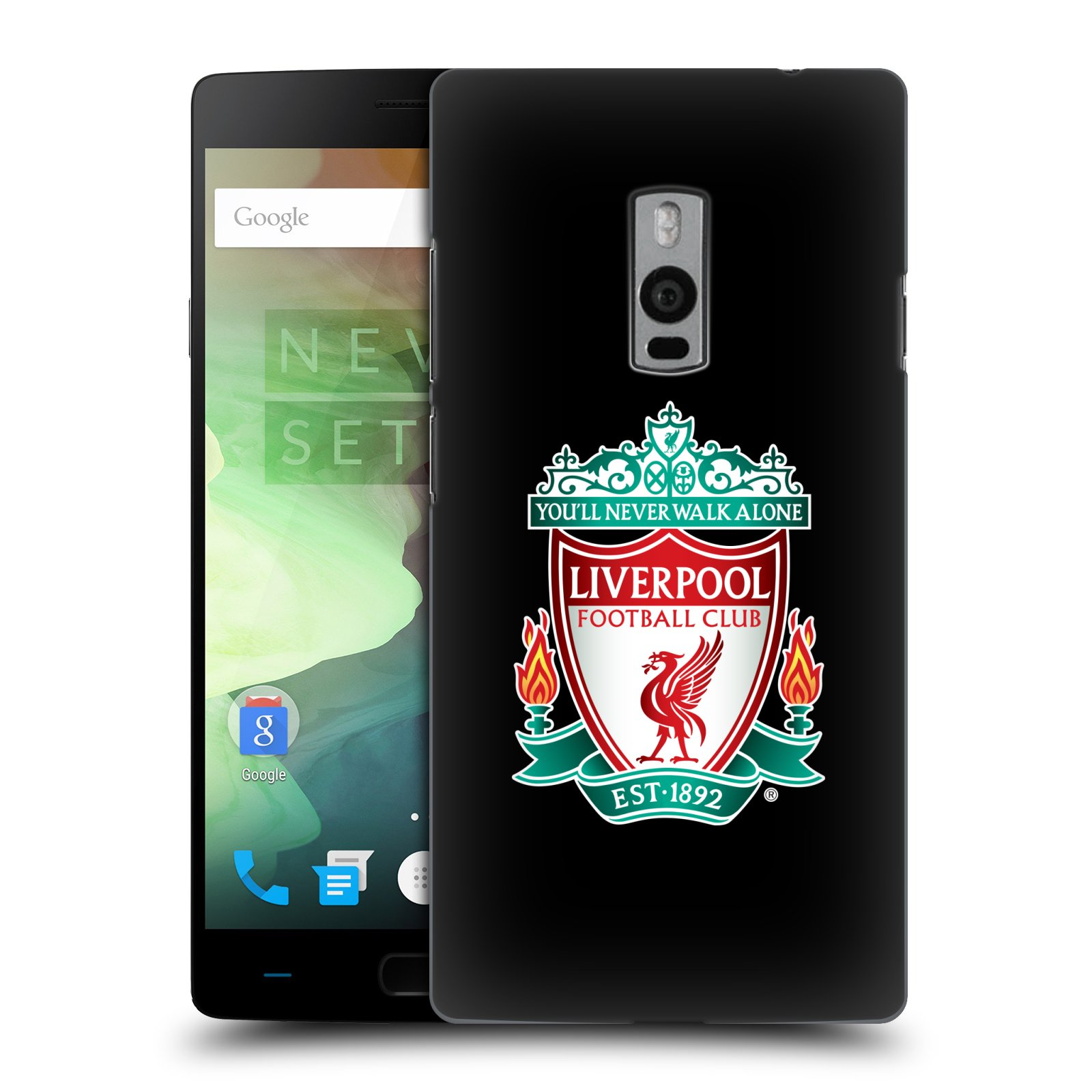 Plastové pouzdro na mobil OnePlus Two HEAD CASE ZNAK LIVERPOOL FC OFFICIAL BLACK (Kryt či obal na mobilní telefon Liverpool FC Official pro OnePlus Two)