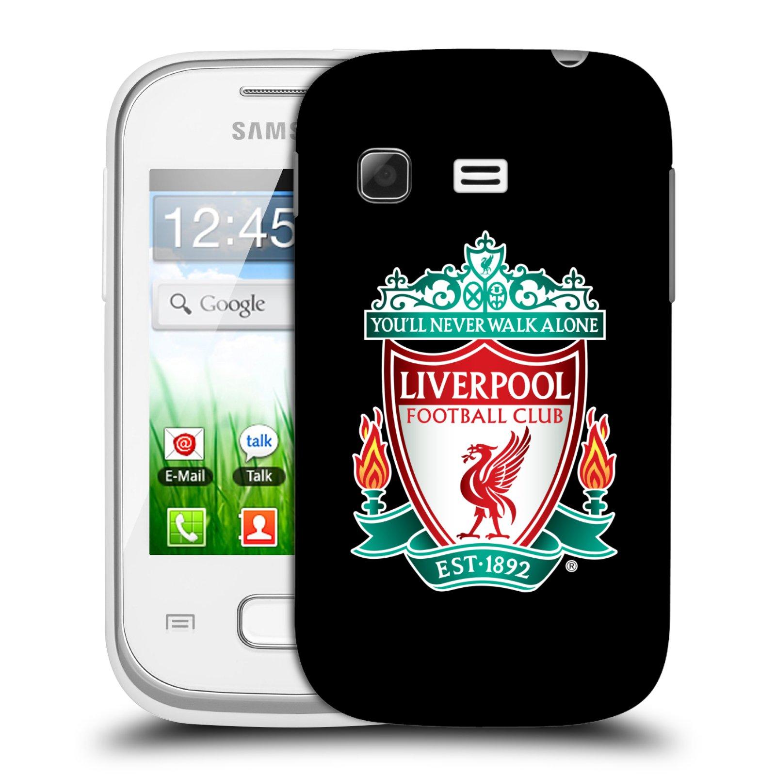 Plastové pouzdro na mobil Samsung Galaxy Pocket HEAD CASE ZNAK LIVERPOOL FC OFFICIAL BLACK (Kryt či obal na mobilní telefon Liverpool FC Official pro Samsung Galaxy Pocket GT-S5300)