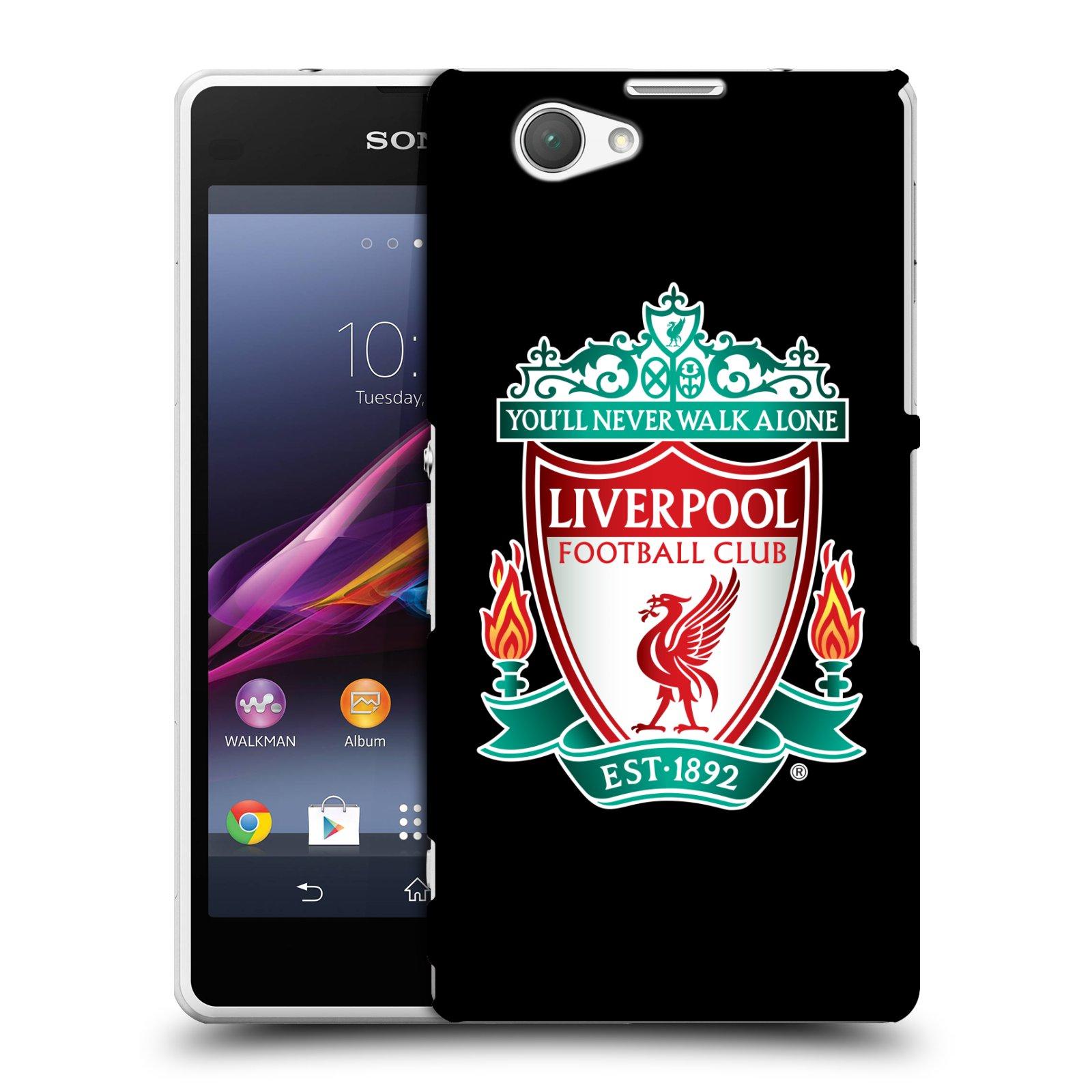 Plastové pouzdro na mobil Sony Xperia Z1 Compact D5503 HEAD CASE ZNAK LIVERPOOL FC OFFICIAL BLACK (Kryt či obal na mobilní telefon Liverpool FC Official pro Sony Xperia Z1 Compact)