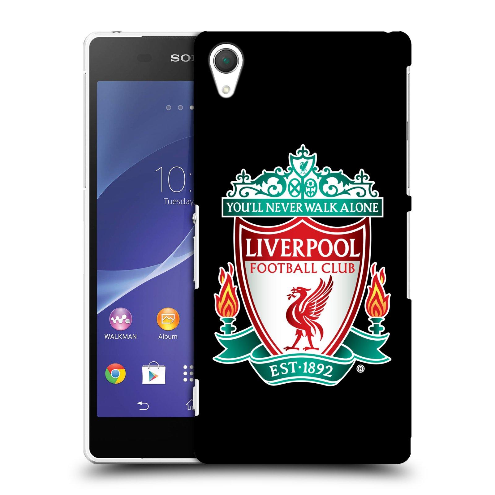 Plastové pouzdro na mobil Sony Xperia Z2 D6503 HEAD CASE ZNAK LIVERPOOL FC OFFICIAL BLACK (Kryt či obal na mobilní telefon Liverpool FC Official pro Sony Xperia Z2)