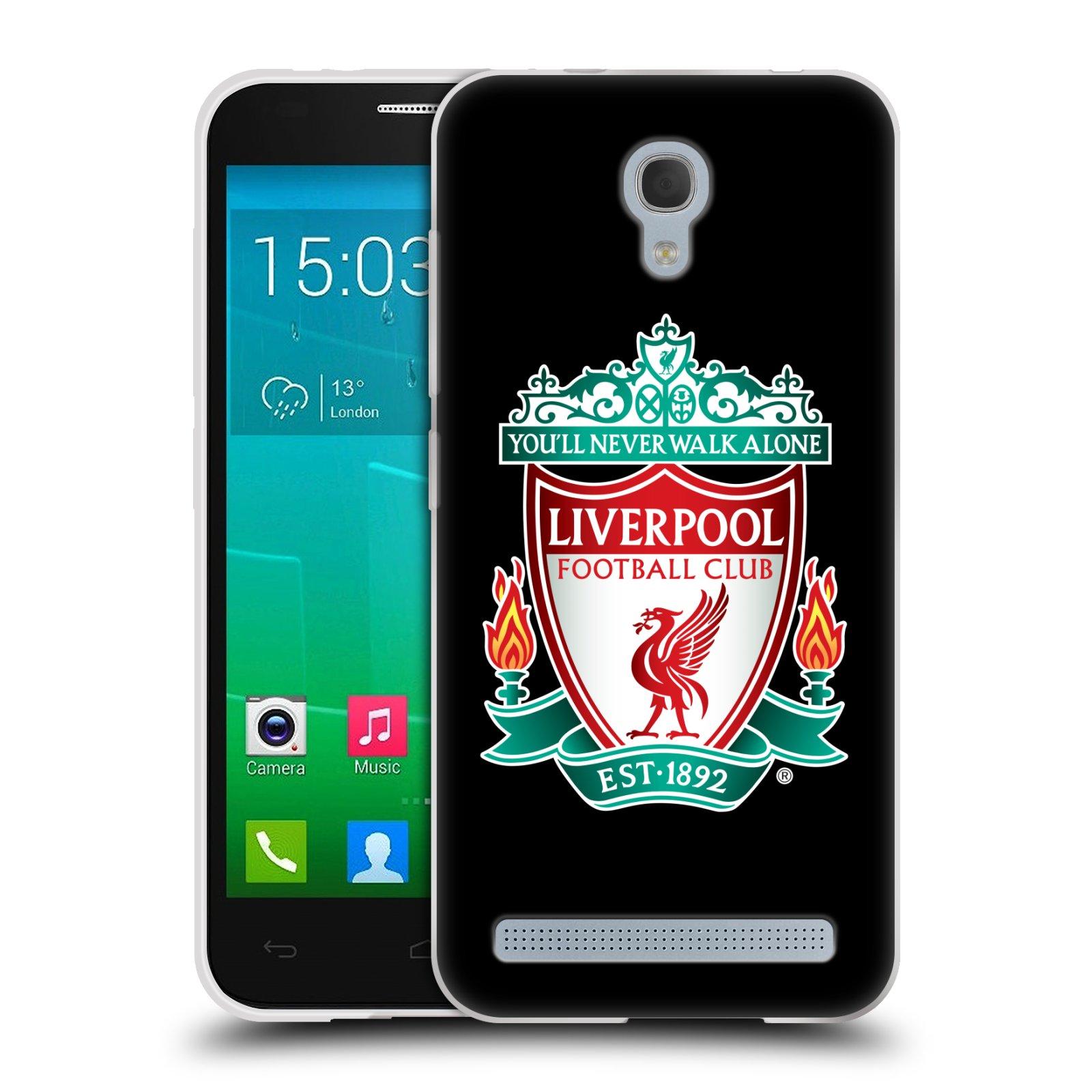 Silikonové pouzdro na mobil Alcatel One Touch Idol 2 Mini S 6036Y HEAD CASE ZNAK LIVERPOOL FC OFFICIAL BLACK (Silikonový kryt či obal na mobilní telefon Liverpool FC Official pro Alcatel Idol 2 Mini S OT-6036Y)