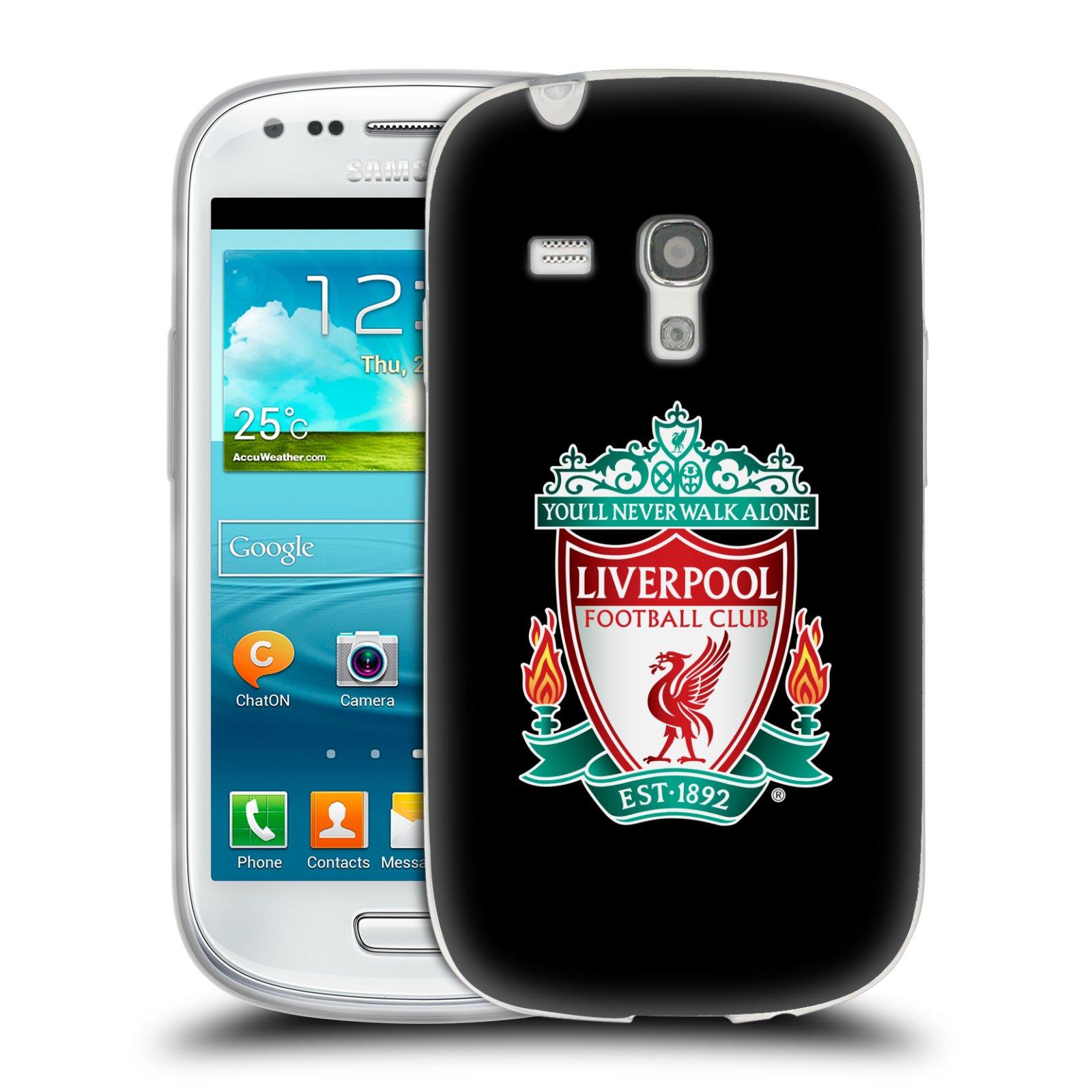 Silikonové pouzdro na mobil Samsung Galaxy S3 Mini VE HEAD CASE ZNAK LIVERPOOL FC OFFICIAL BLACK (Silikonový kryt či obal na mobilní telefon Liverpool FC Official pro Samsung Galaxy S3 Mini VE GT-i8200)