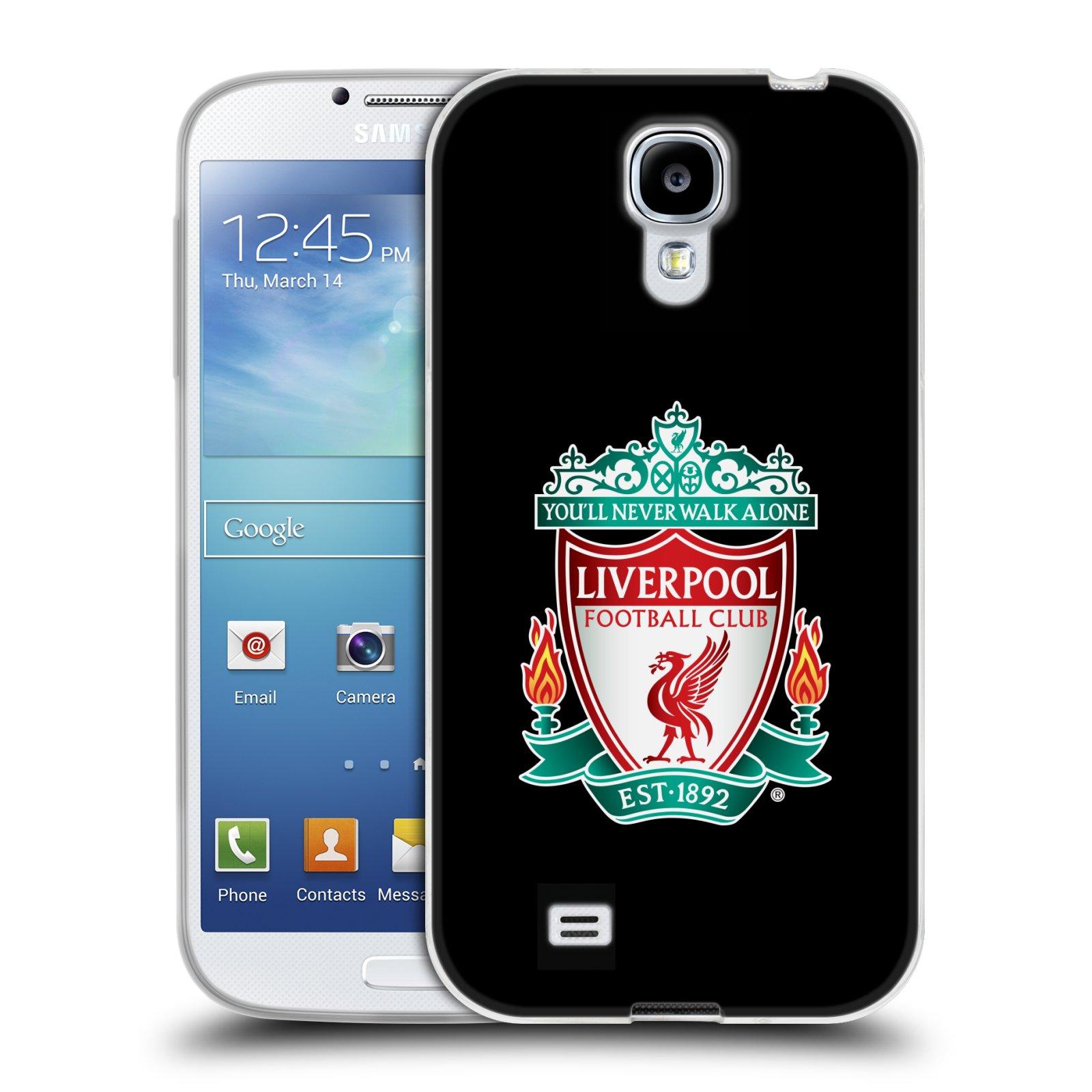 Silikonové pouzdro na mobil Samsung Galaxy S4 HEAD CASE ZNAK LIVERPOOL FC OFFICIAL BLACK (Silikonový kryt či obal na mobilní telefon Liverpool FC Official pro Samsung Galaxy S4 GT-i9505 / i9500)