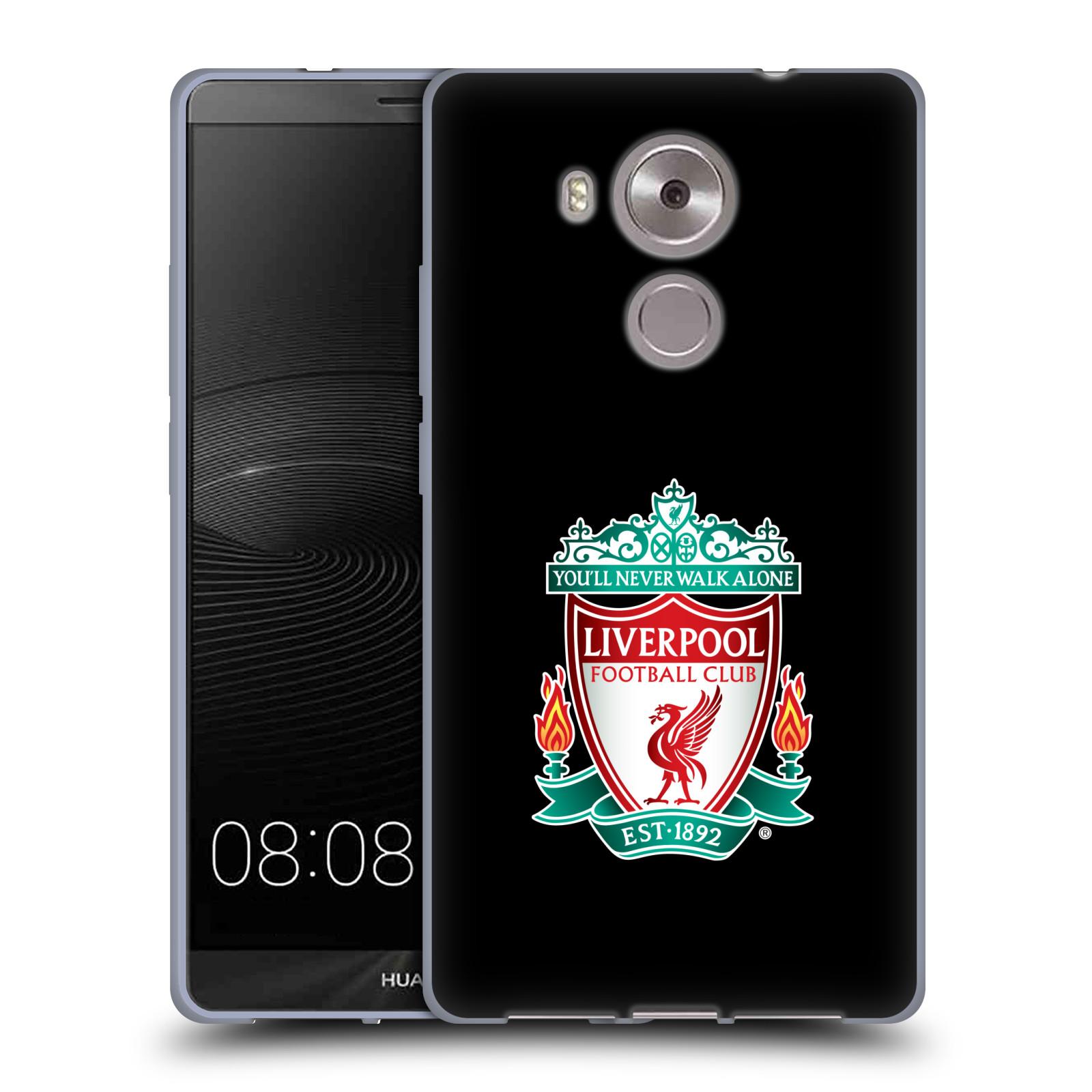 Silikonové pouzdro na mobil Huawei Ascend Mate 8 HEAD CASE ZNAK LIVERPOOL FC OFFICIAL BLACK (Silikonový kryt či obal na mobilní telefon Liverpool FC Official pro Huawei Ascend MATE8)