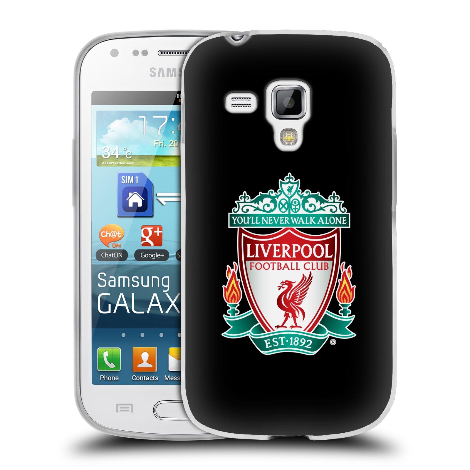 Silikonové pouzdro na mobil Samsung Galaxy S Duos 2 HEAD CASE ZNAK LIVERPOOL FC OFFICIAL BLACK (Silikonový kryt či obal na mobilní telefon Liverpool FC Official pro Samsung Galaxy S Duos 2 GT-S7582)