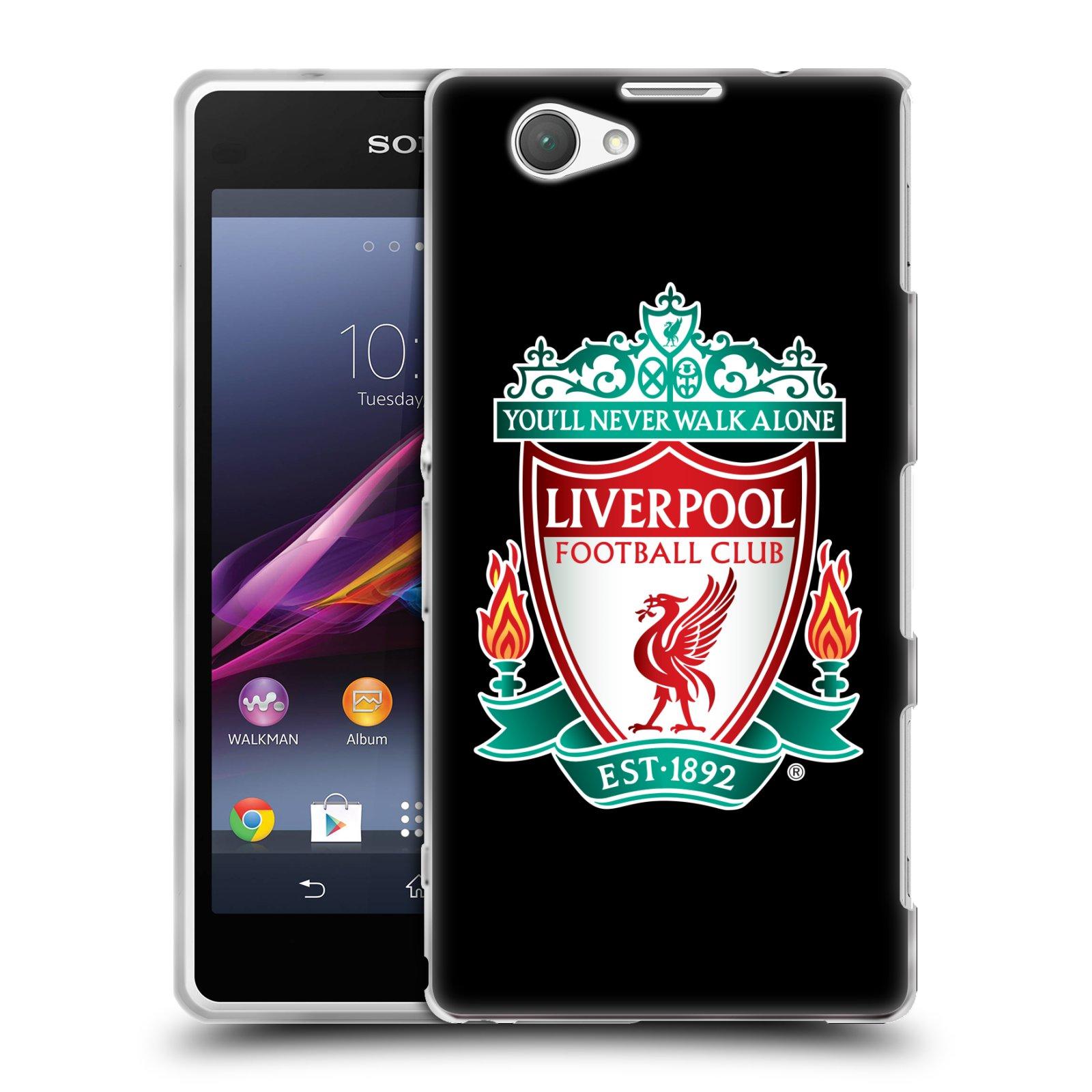 Silikonové pouzdro na mobil Sony Xperia Z1 Compact D5503 HEAD CASE ZNAK LIVERPOOL FC OFFICIAL BLACK (Silikonový kryt či obal na mobilní telefon Liverpool FC Official pro Sony Xperia Z1 Compact)