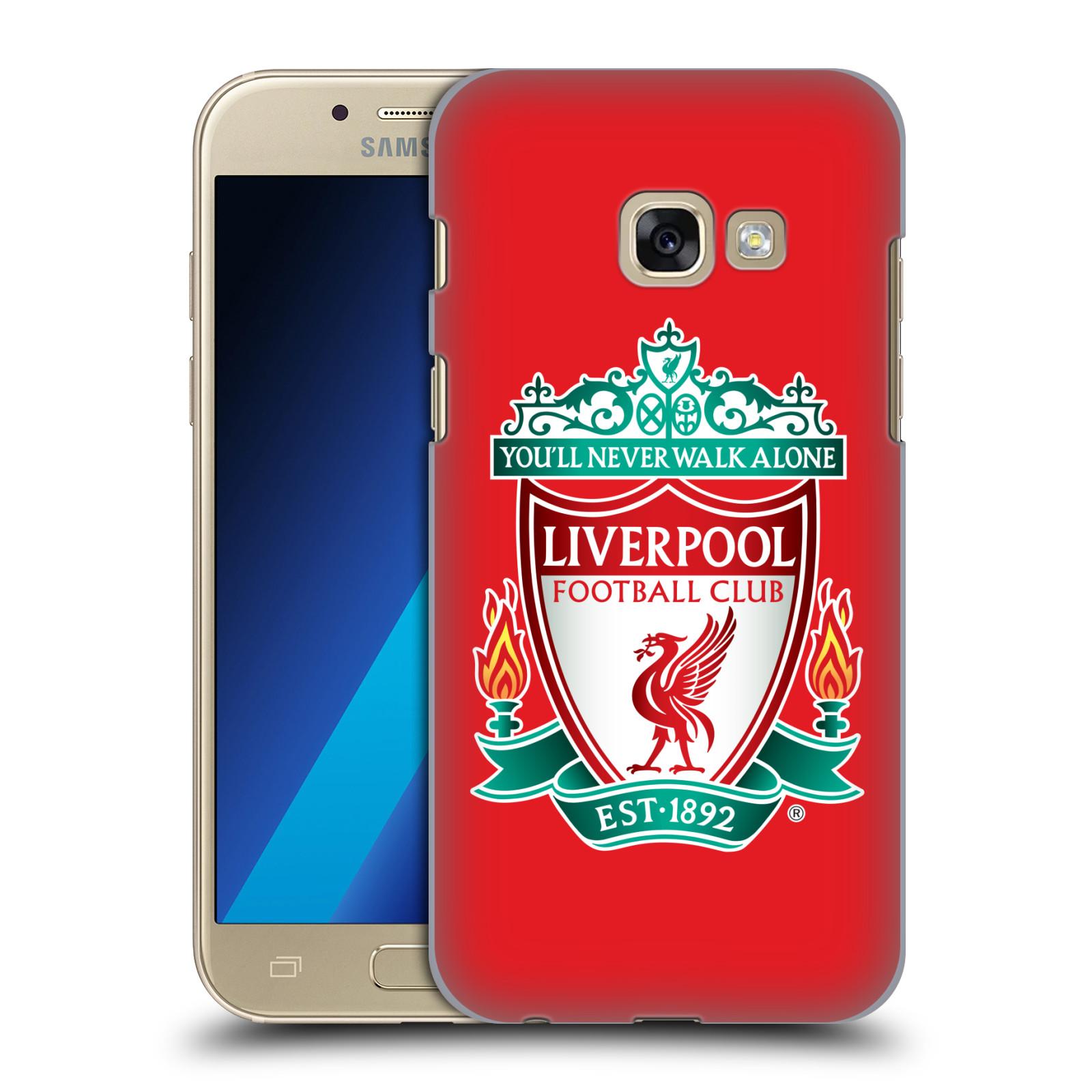 Plastové pouzdro na mobil Samsung Galaxy A3 (2017) HEAD CASE ZNAK LIVERPOOL FC OFFICIAL RED