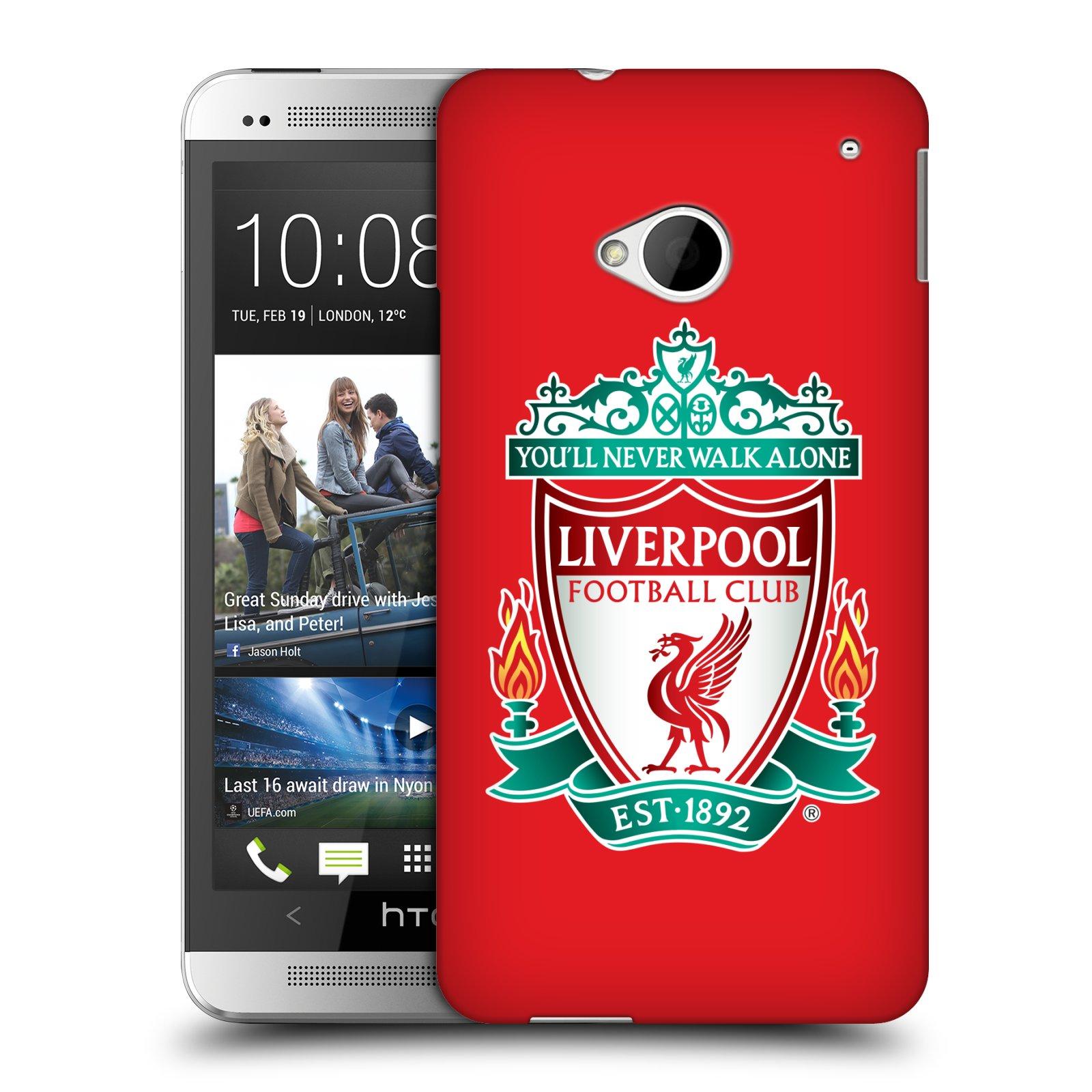 Plastové pouzdro na mobil HTC ONE M7 HEAD CASE ZNAK LIVERPOOL FC OFFICIAL RED (Kryt či obal na mobilní telefon Liverpool FC Official pro HTC ONE M7)