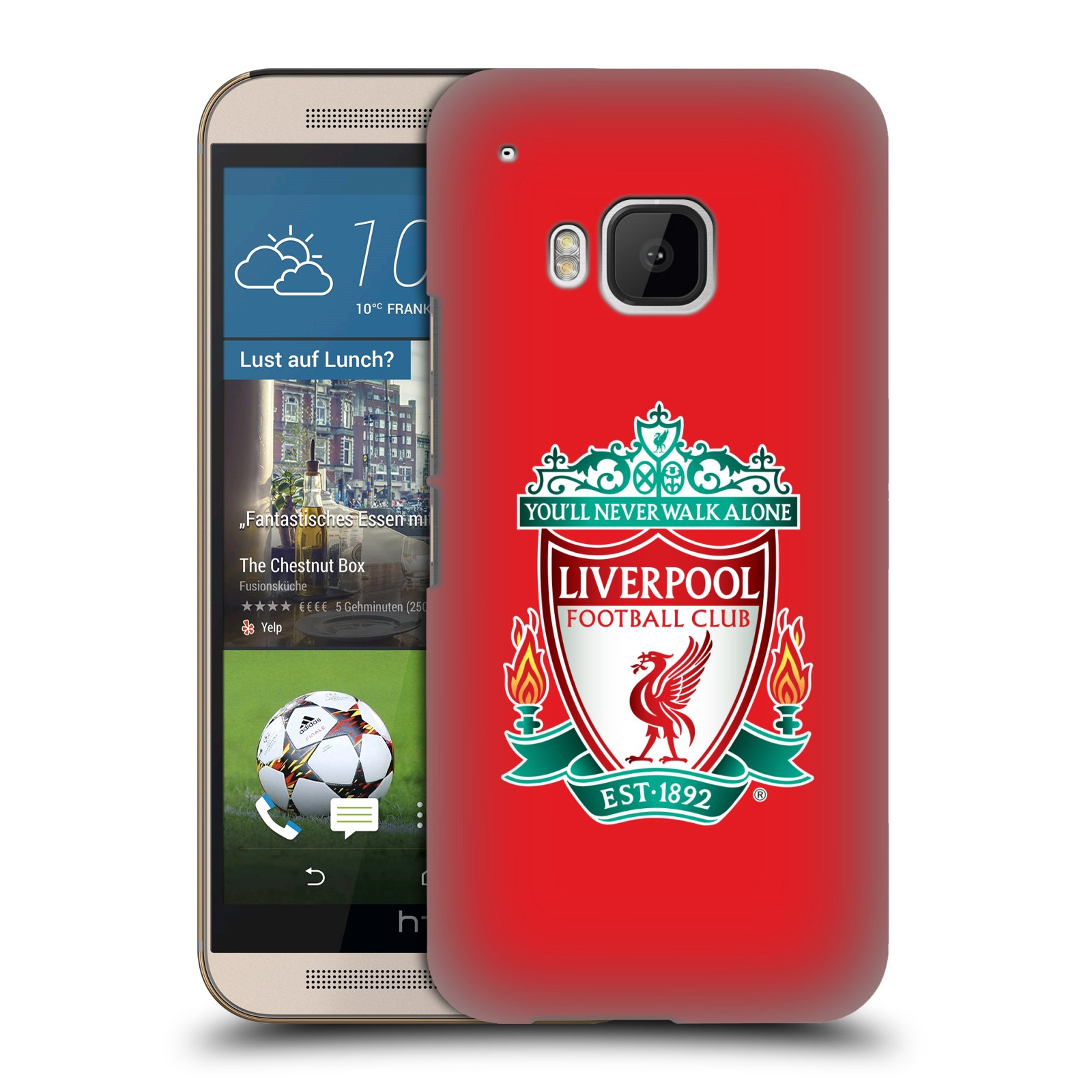 Plastové pouzdro na mobil HTC ONE M9 HEAD CASE ZNAK LIVERPOOL FC OFFICIAL RED (Kryt či obal na mobilní telefon Liverpool FC Official pro HTC ONE M9)
