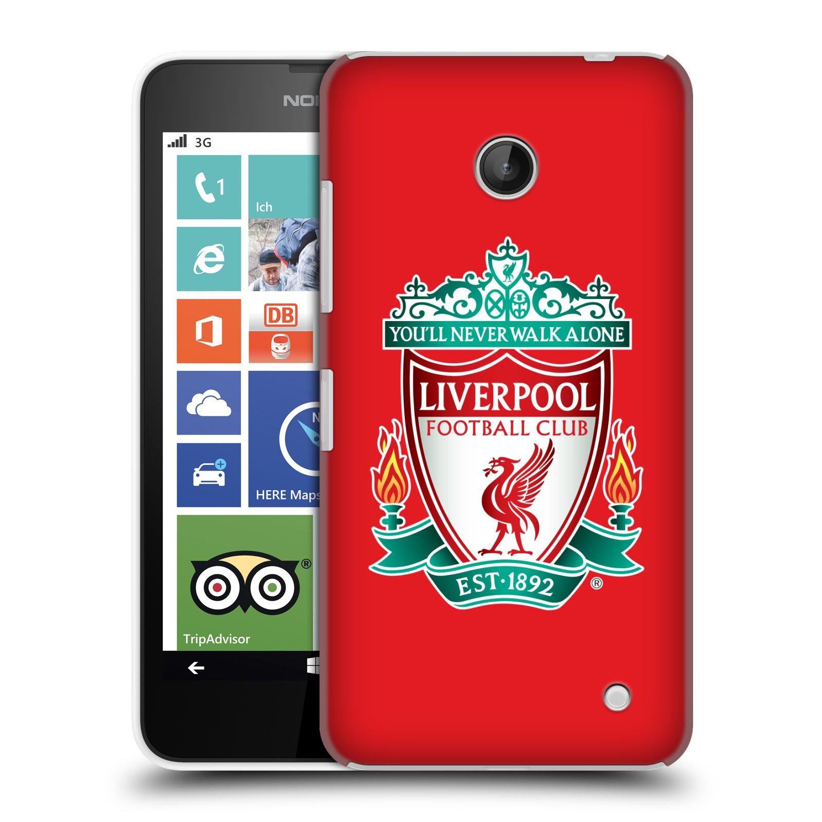 Plastové pouzdro na mobil Nokia Lumia 630 HEAD CASE ZNAK LIVERPOOL FC OFFICIAL RED (Kryt či obal na mobilní telefon Liverpool FC Official pro Nokia Lumia 630 a Nokia Lumia 630 Dual SIM)