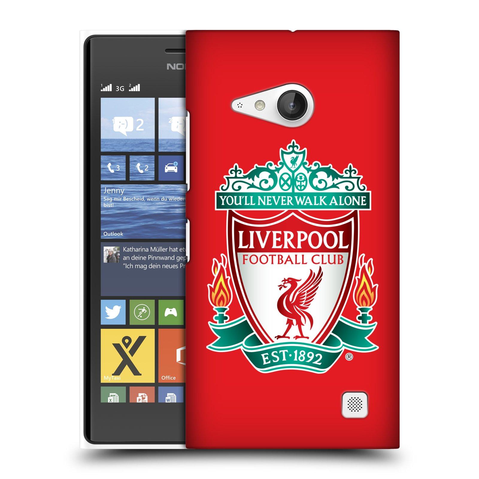 Plastové pouzdro na mobil Nokia Lumia 735 HEAD CASE ZNAK LIVERPOOL FC OFFICIAL RED (Kryt či obal na mobilní telefon Liverpool FC Official pro Nokia Lumia 735)