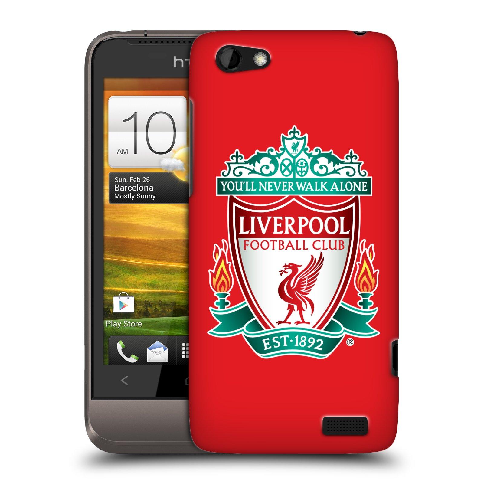 Plastové pouzdro na mobil HTC ONE V HEAD CASE ZNAK LIVERPOOL FC OFFICIAL RED (Kryt či obal na mobilní telefon Liverpool FC Official pro HTC ONE V)