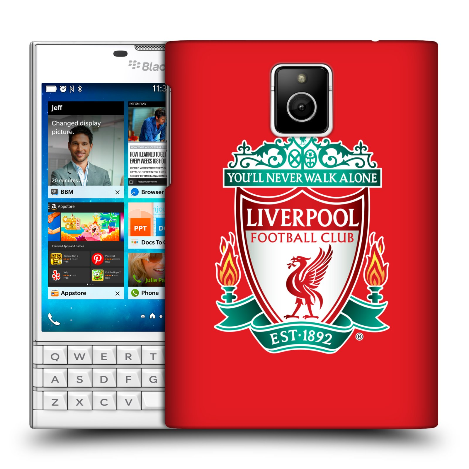 Plastové pouzdro na mobil Blackberry PASSPORT HEAD CASE ZNAK LIVERPOOL FC OFFICIAL RED (Kryt či obal na mobilní telefon Liverpool FC Official pro Blackberry PASSPORT)