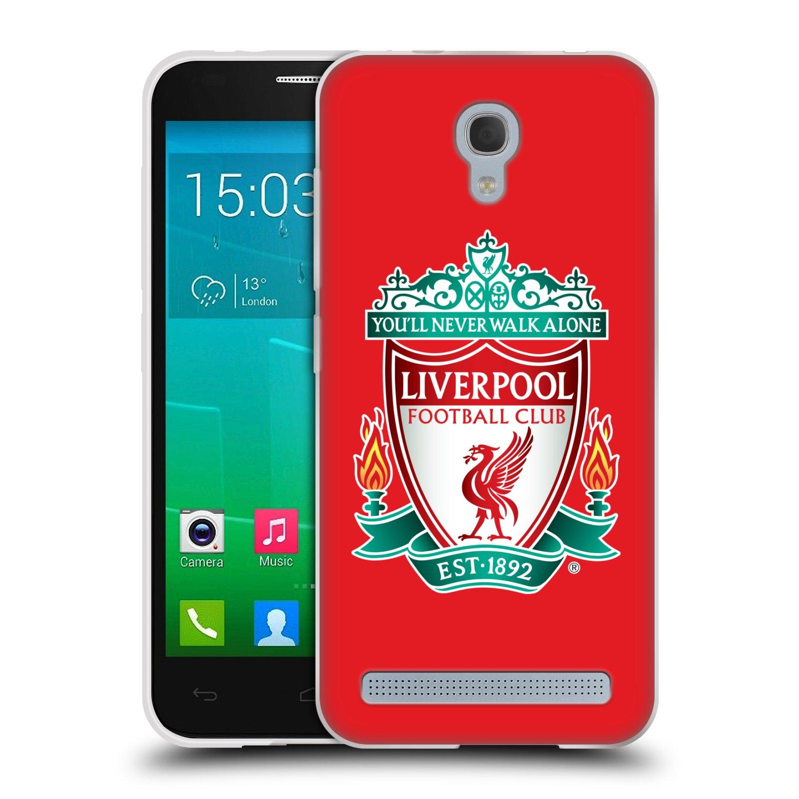 Silikonové pouzdro na mobil Alcatel One Touch Idol 2 Mini S 6036Y HEAD CASE ZNAK LIVERPOOL FC OFFICIAL RED (Silikonový kryt či obal na mobilní telefon Liverpool FC Official pro Alcatel Idol 2 Mini S OT-6036Y)
