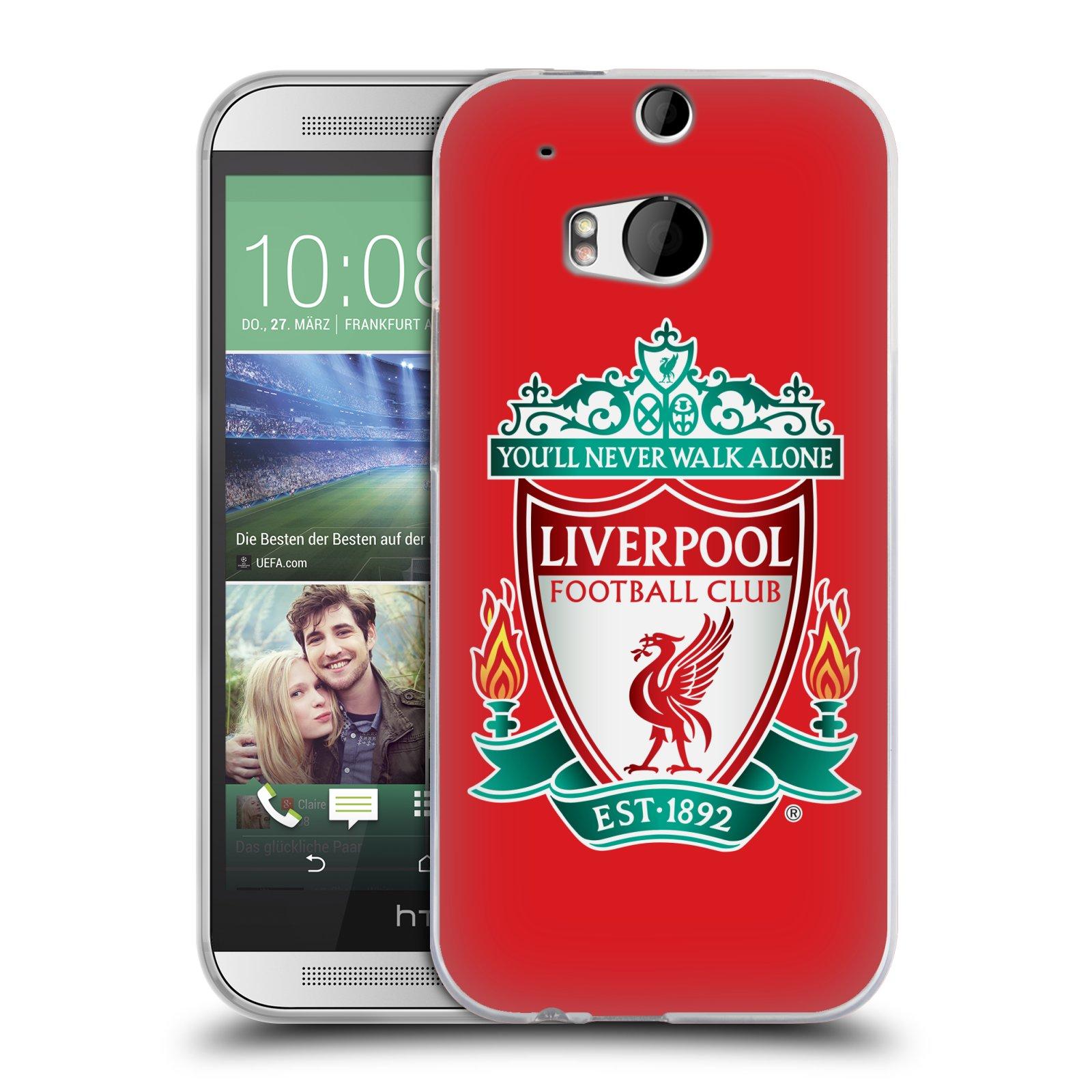 Silikonové pouzdro na mobil HTC ONE M8 HEAD CASE ZNAK LIVERPOOL FC OFFICIAL RED (Silikonový kryt či obal na mobilní telefon Liverpool FC Official pro HTC ONE M8)