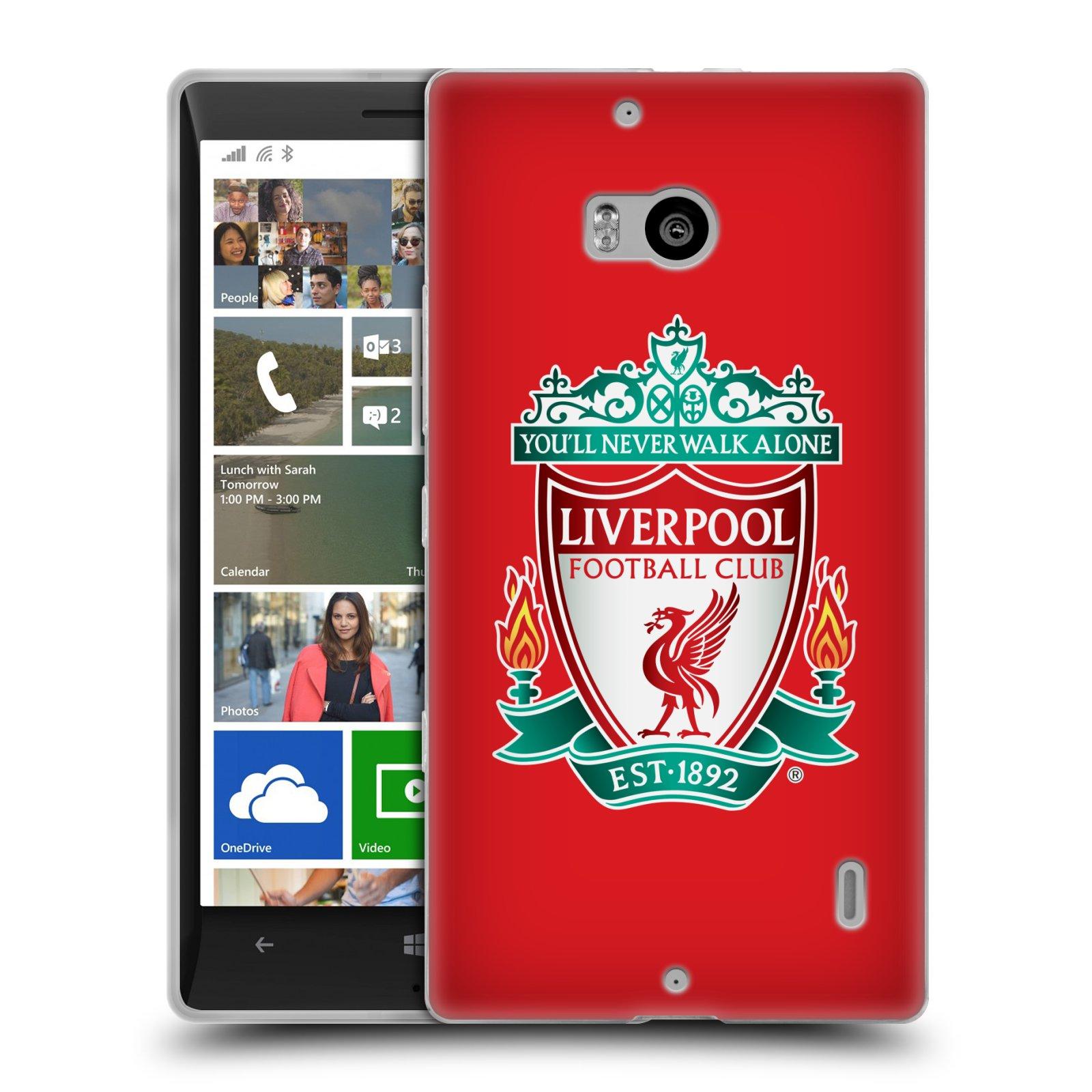 Silikonové pouzdro na mobil Nokia Lumia 930 HEAD CASE ZNAK LIVERPOOL FC OFFICIAL RED (Silikonový kryt či obal na mobilní telefon Liverpool FC Official pro Nokia Lumia 930)