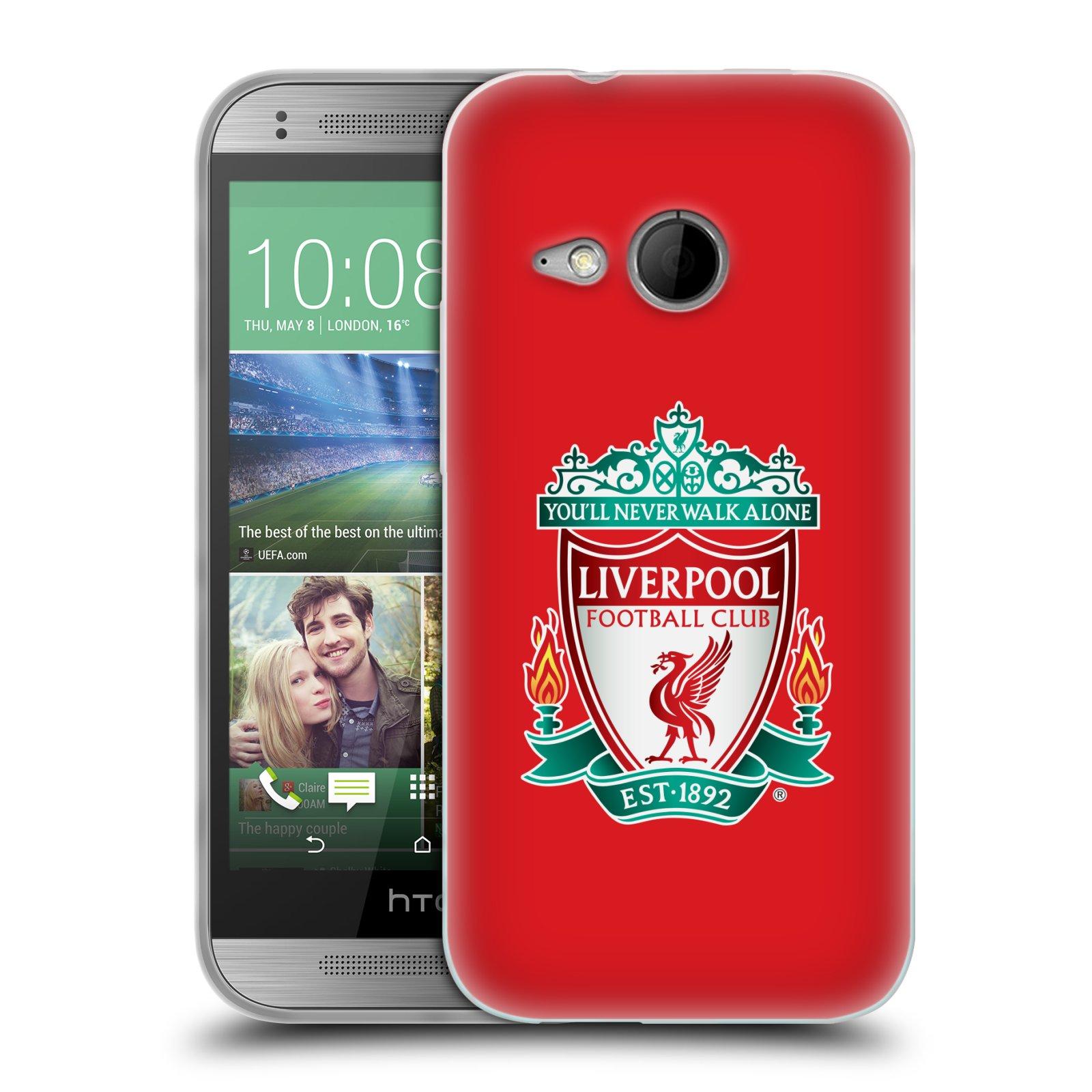Silikonové pouzdro na mobil HTC ONE Mini 2 HEAD CASE ZNAK LIVERPOOL FC OFFICIAL RED (Silikonový kryt či obal na mobilní telefon Liverpool FC Official pro HTC ONE Mini 2)