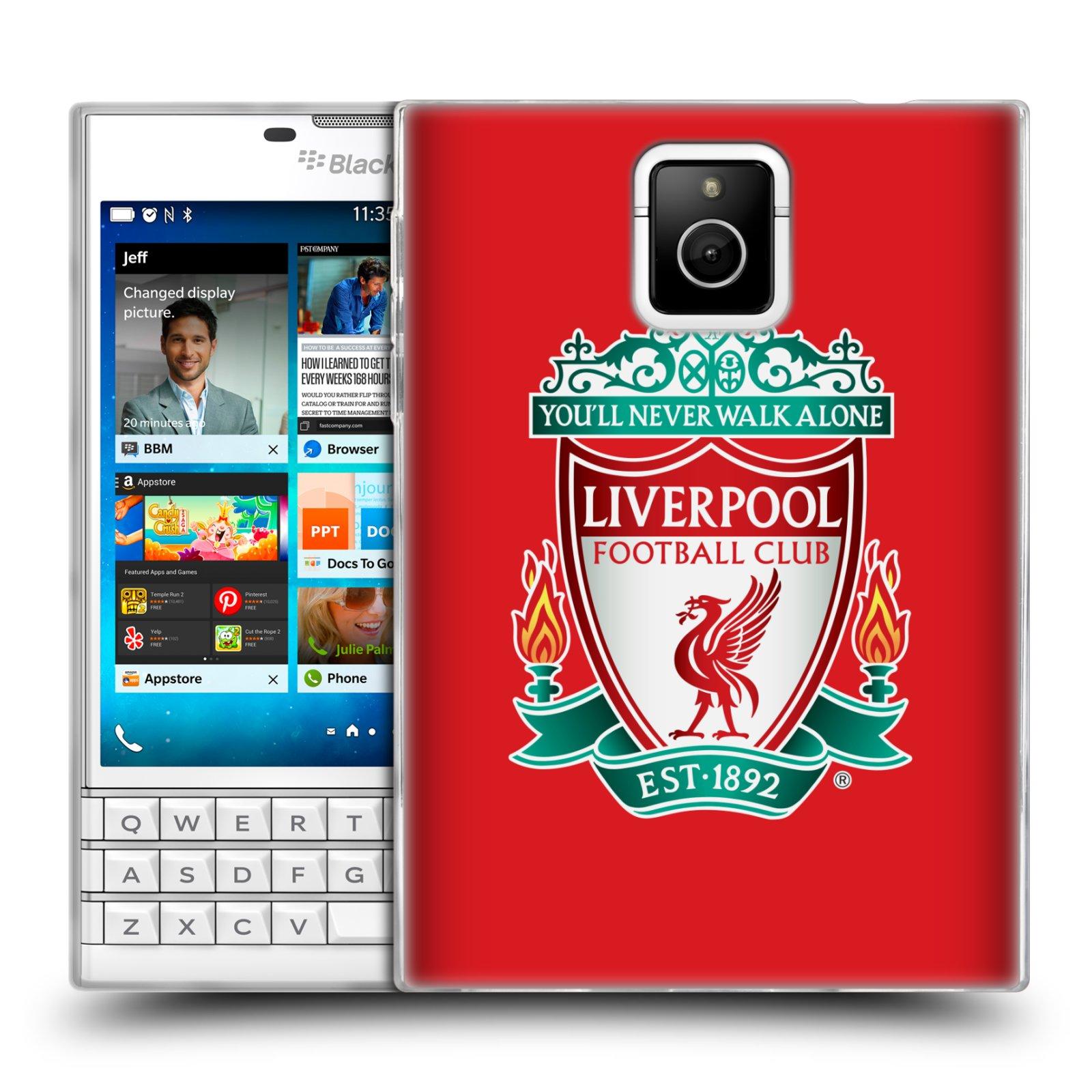 Silikonové pouzdro na mobil Blackberry PASSPORT HEAD CASE ZNAK LIVERPOOL FC OFFICIAL RED (Silikonový kryt či obal na mobilní telefon Liverpool FC Official pro Blackberry PASSPORT)
