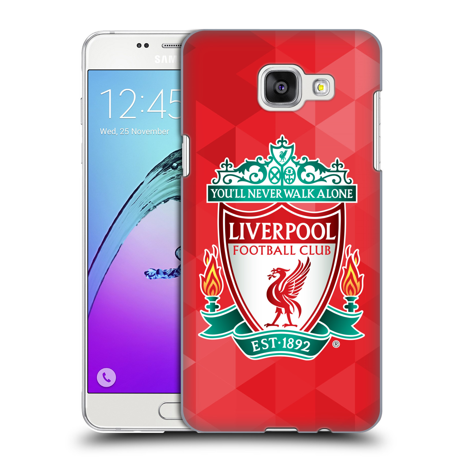 Plastové pouzdro na mobil Samsung Galaxy A5 (2016) HEAD CASE ZNAK LIVERPOOL FC OFFICIAL GEOMETRIC RED