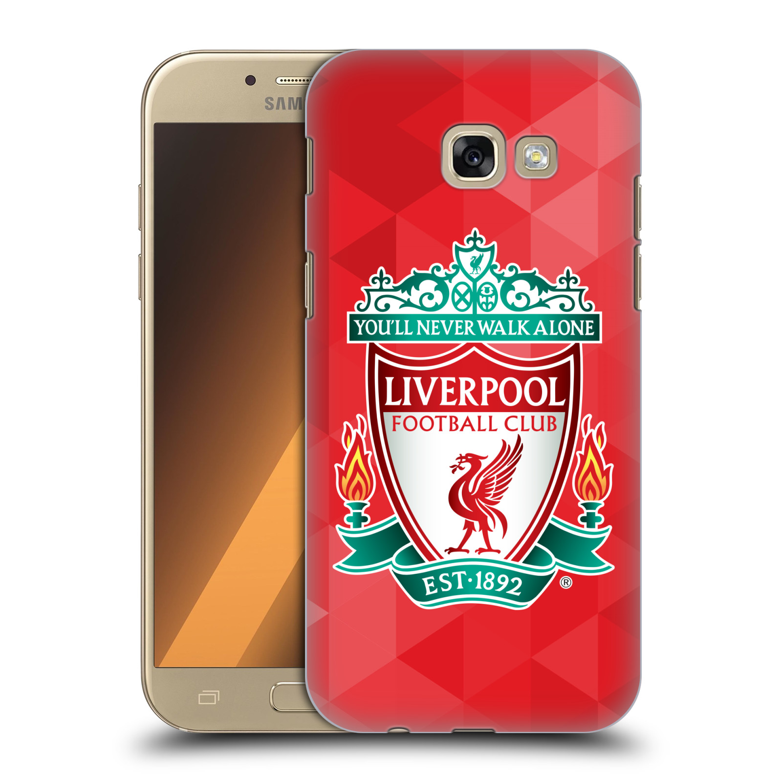 Plastové pouzdro na mobil Samsung Galaxy A5 (2017) HEAD CASE ZNAK LIVERPOOL FC OFFICIAL GEOMETRIC RED