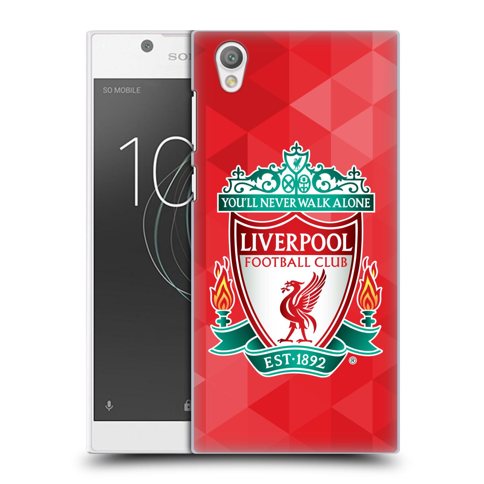 Plastové pouzdro na mobil Sony Xperia L1 - Head Case - ZNAK LIVERPOOL FC OFFICIAL GEOMETRIC RED