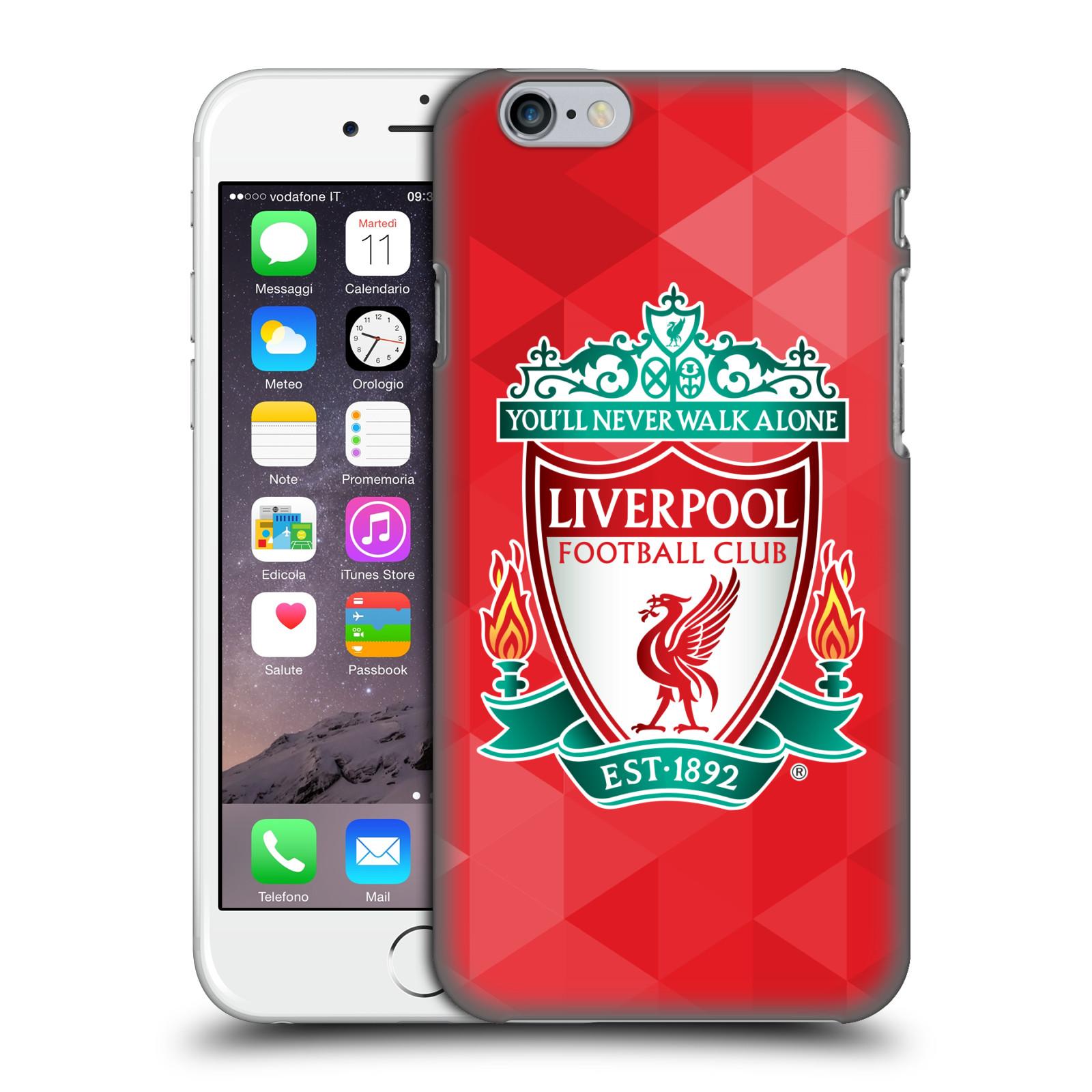 Plastové pouzdro na mobil Apple iPhone 6 HEAD CASE ZNAK LIVERPOOL FC OFFICIAL GEOMETRIC RED