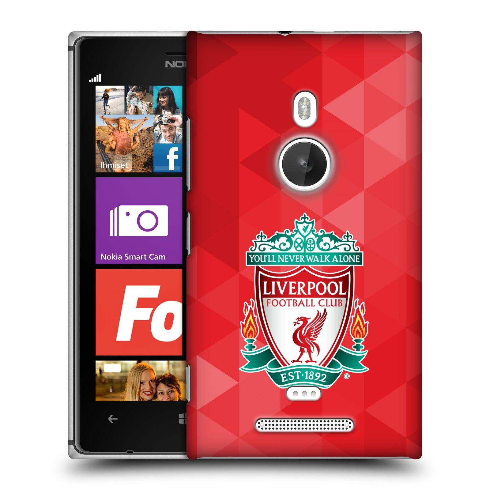 Plastové pouzdro na mobil Nokia Lumia 925 HEAD CASE ZNAK LIVERPOOL FC OFFICIAL GEOMETRIC RED (Kryt či obal na mobilní telefon Liverpool FC Official pro Nokia Lumia 925)