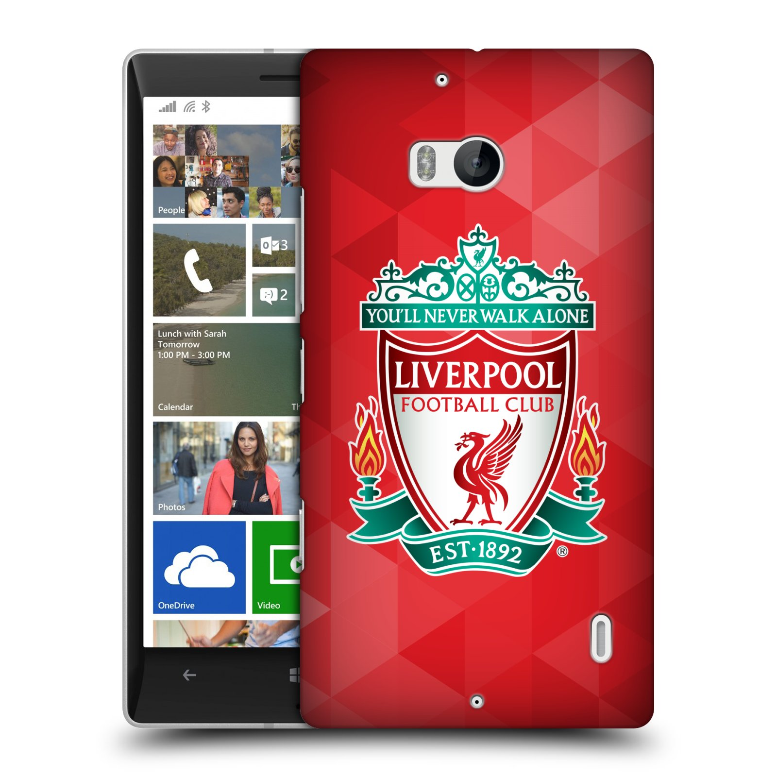 Plastové pouzdro na mobil Nokia Lumia 930 HEAD CASE ZNAK LIVERPOOL FC OFFICIAL GEOMETRIC RED (Kryt či obal na mobilní telefon Liverpool FC Official pro Nokia Lumia 930)