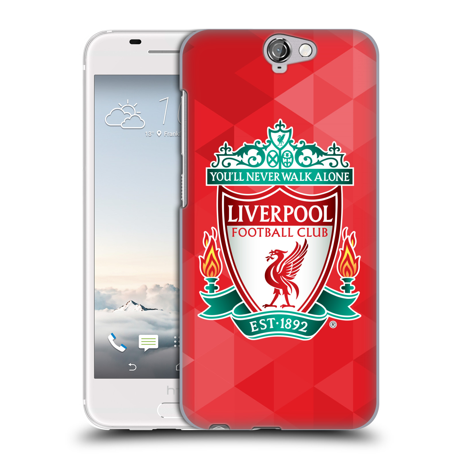 Plastové pouzdro na mobil HTC One A9 HEAD CASE ZNAK LIVERPOOL FC OFFICIAL GEOMETRIC RED (Kryt či obal na mobilní telefon Liverpool FC Official pro HTC One A9)