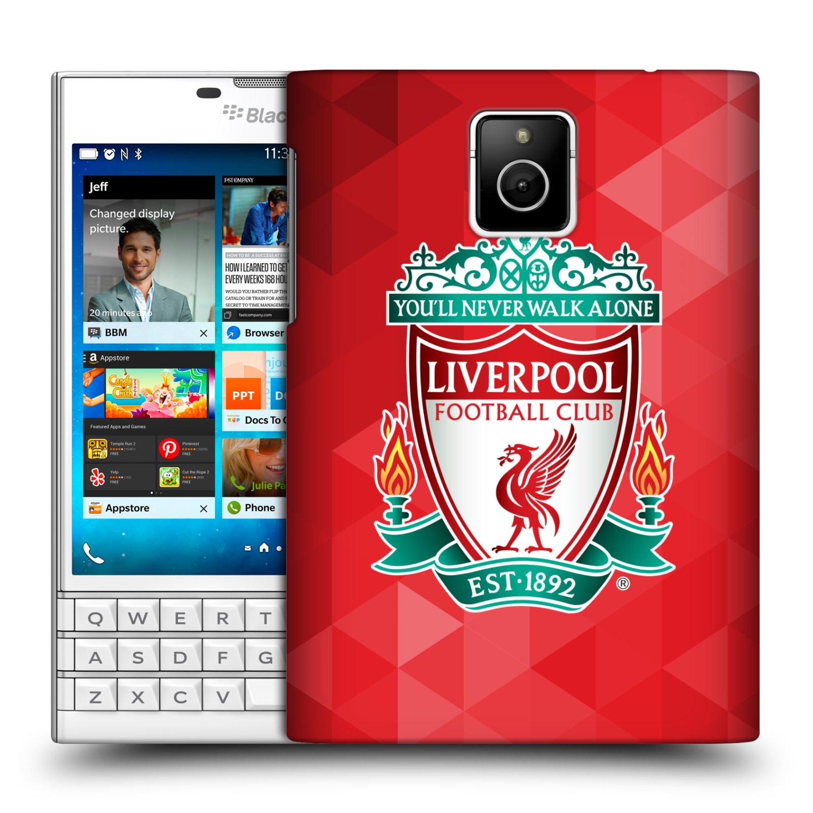 Plastové pouzdro na mobil Blackberry PASSPORT HEAD CASE ZNAK LIVERPOOL FC OFFICIAL GEOMETRIC RED (Kryt či obal na mobilní telefon Liverpool FC Official pro Blackberry PASSPORT)