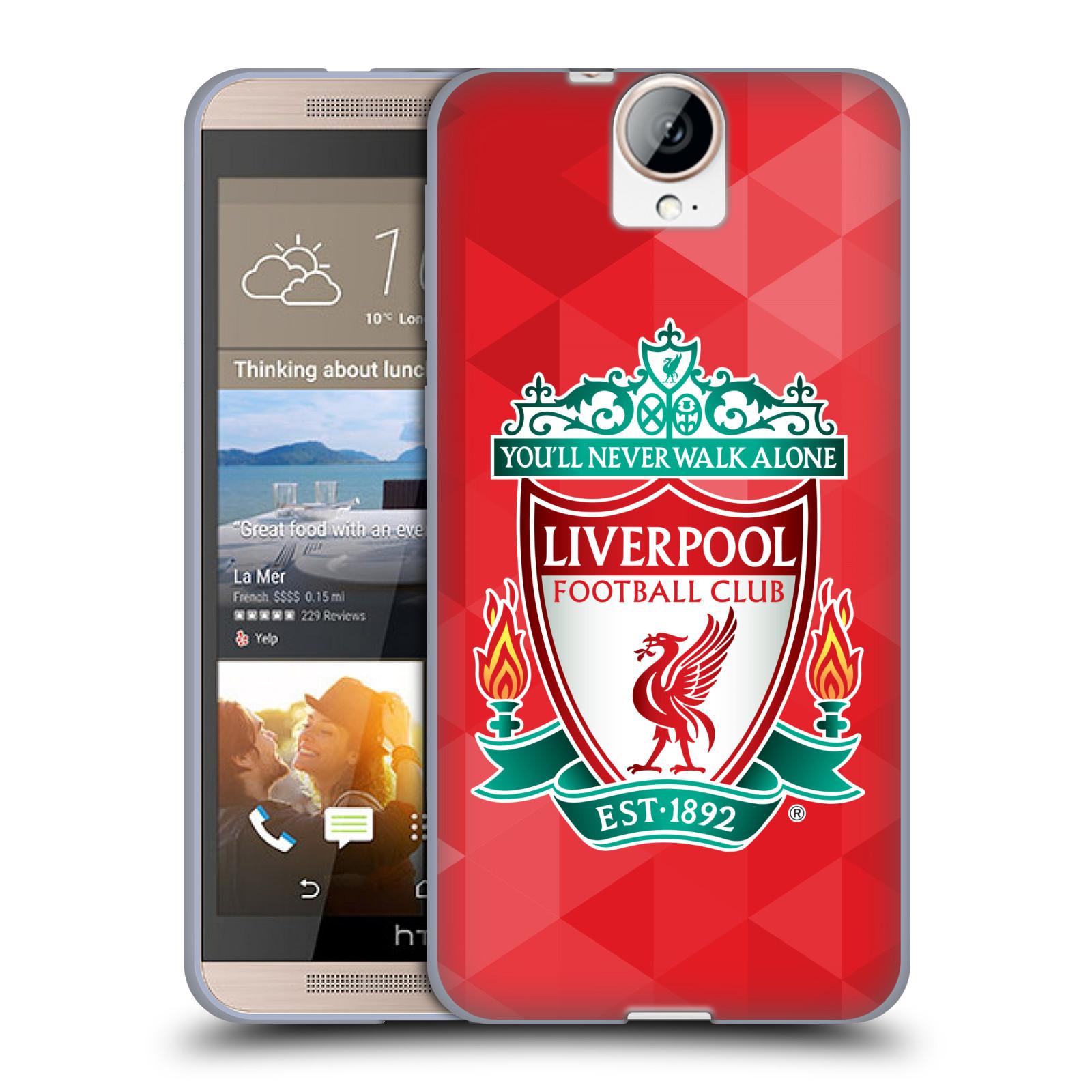 Silikonové pouzdro na mobil HTC One E9+(Plus) HEAD CASE ZNAK LIVERPOOL FC OFFICIAL GEOMETRIC RED (Silikonový kryt či obal na mobilní telefon Liverpool FC Official pro HTC One E9+)