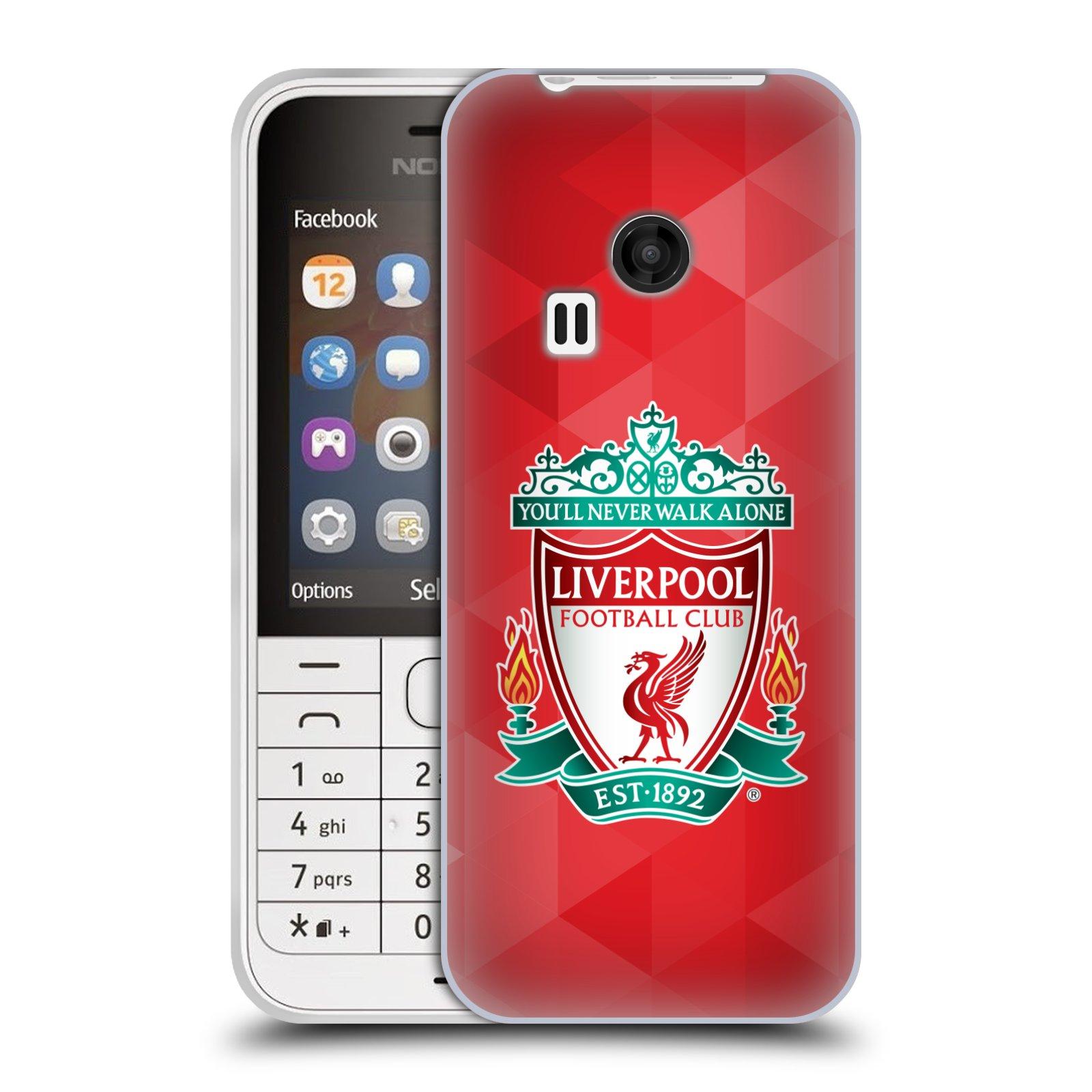 Silikonové pouzdro na mobil Nokia 220 HEAD CASE ZNAK LIVERPOOL FC OFFICIAL GEOMETRIC RED (Silikonový kryt či obal na mobilní telefon Liverpool FC Official pro Nokia 220 a 220 Dual SIM)