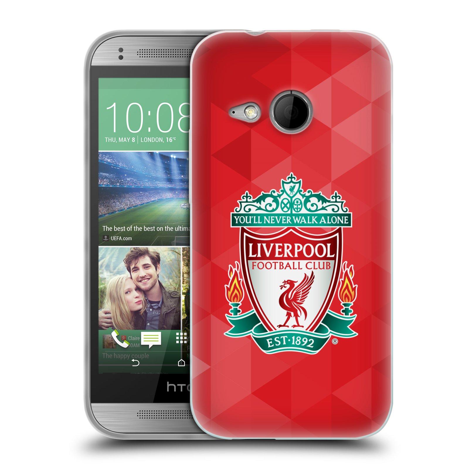 Silikonové pouzdro na mobil HTC ONE Mini 2 HEAD CASE ZNAK LIVERPOOL FC OFFICIAL GEOMETRIC RED (Silikonový kryt či obal na mobilní telefon Liverpool FC Official pro HTC ONE Mini 2)