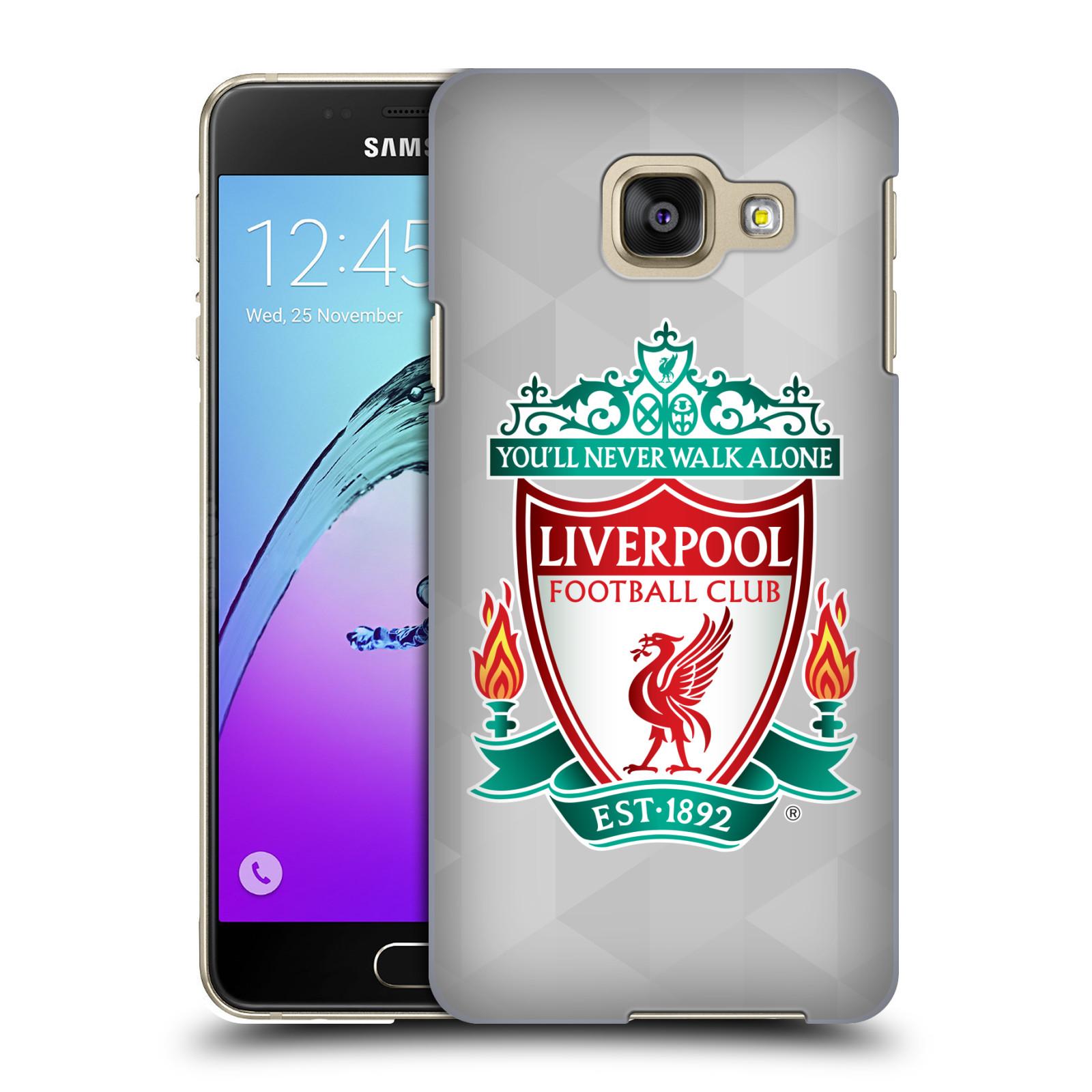 Plastové pouzdro na mobil Samsung Galaxy A3 (2016) HEAD CASE ZNAK LIVERPOOL FC OFFICIAL GEOMETRIC WHITE