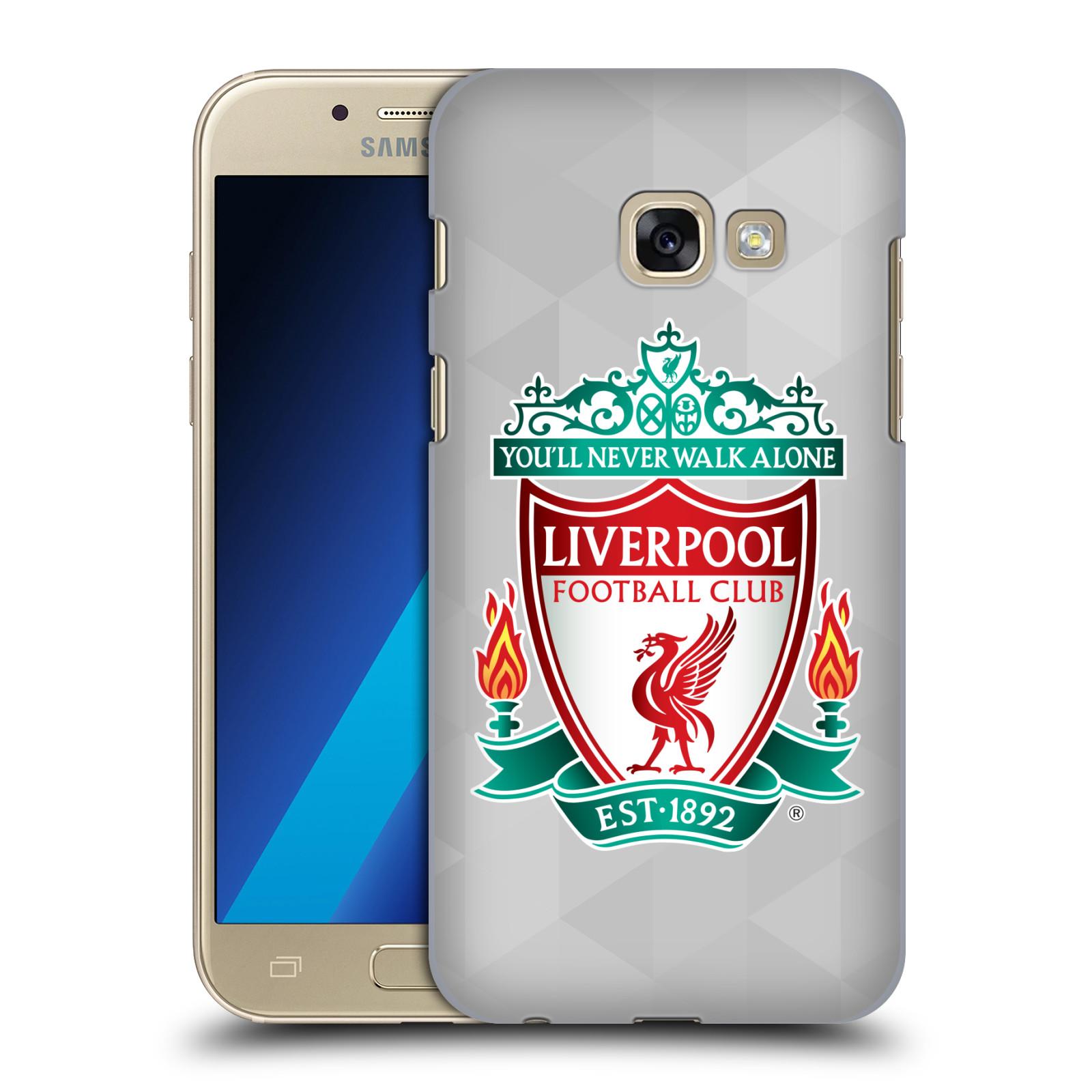 Plastové pouzdro na mobil Samsung Galaxy A3 (2017) HEAD CASE ZNAK LIVERPOOL FC OFFICIAL GEOMETRIC WHITE