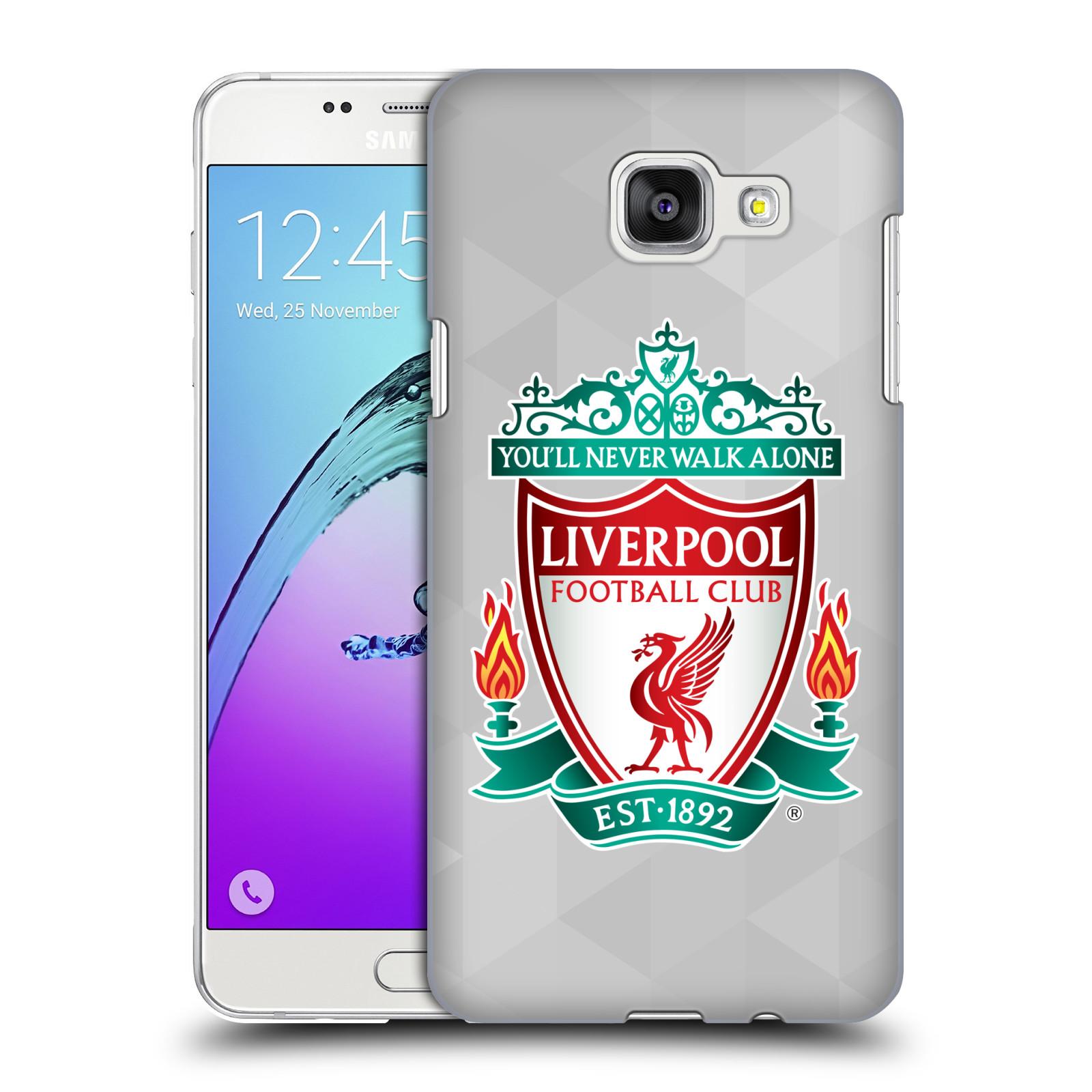 Plastové pouzdro na mobil Samsung Galaxy A5 (2016) HEAD CASE ZNAK LIVERPOOL FC OFFICIAL GEOMETRIC WHITE