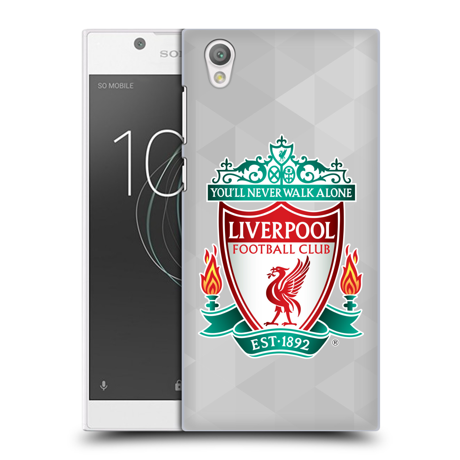 Plastové pouzdro na mobil Sony Xperia L1 - Head Case - ZNAK LIVERPOOL FC OFFICIAL GEOMETRIC WHITE