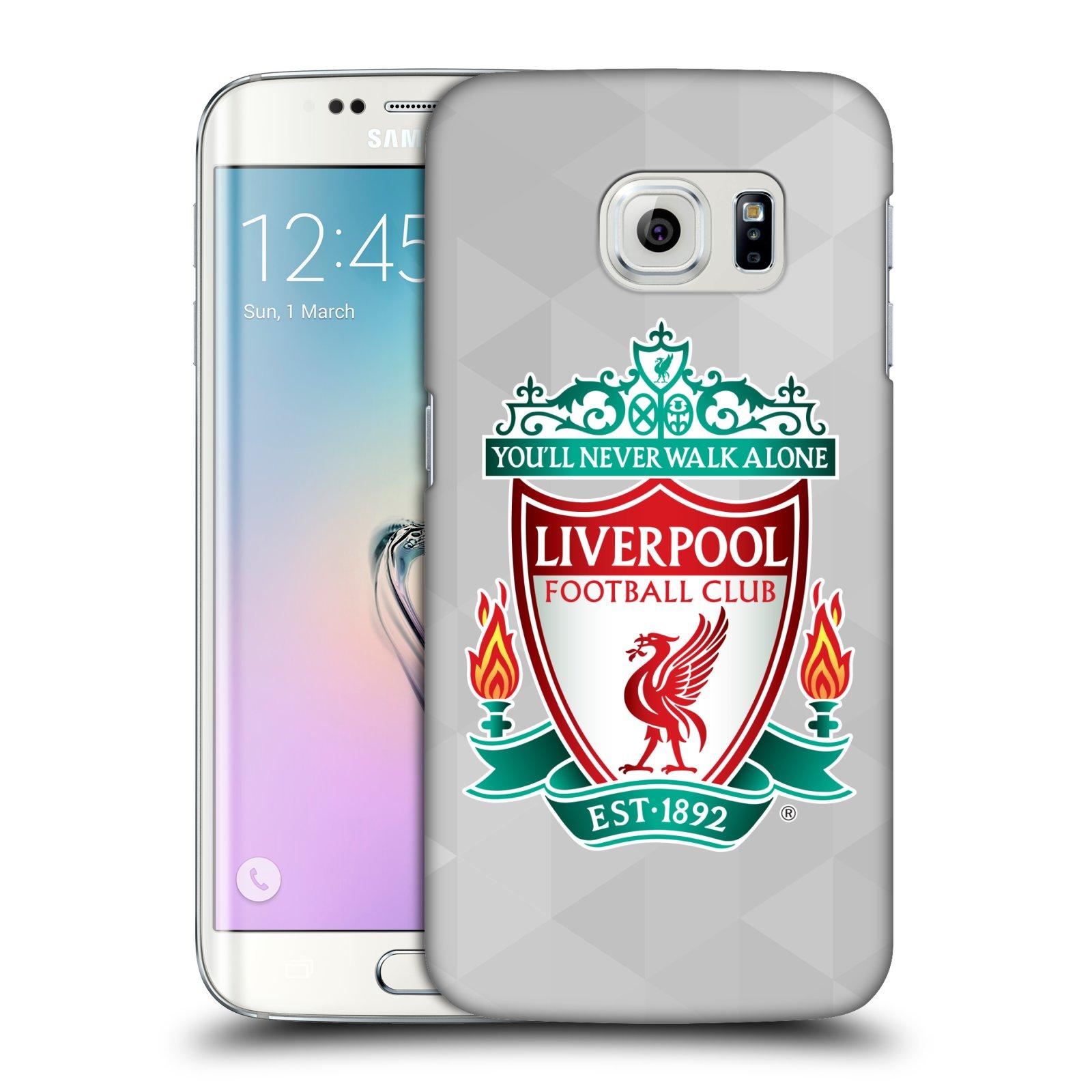 Plastové pouzdro na mobil Samsung Galaxy S6 Edge HEAD CASE ZNAK LIVERPOOL FC OFFICIAL GEOMETRIC WHITE (Kryt či obal na mobilní telefon Liverpool FC Official pro Samsung Galaxy S6 Edge SM-G925F)