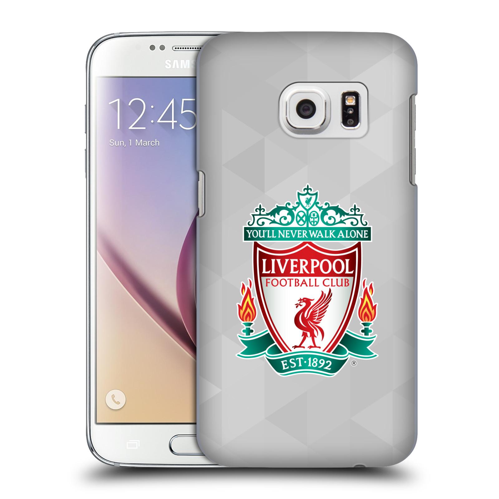 Plastové pouzdro na mobil Samsung Galaxy S7 HEAD CASE ZNAK LIVERPOOL FC OFFICIAL GEOMETRIC WHITE (Kryt či obal na mobilní telefon Liverpool FC Official pro Samsung Galaxy S7 SM-G930F)