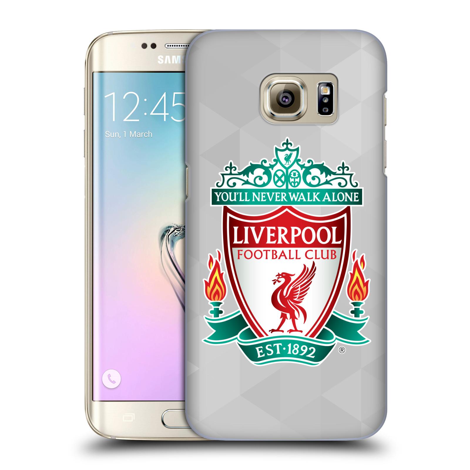 Plastové pouzdro na mobil Samsung Galaxy S7 Edge HEAD CASE ZNAK LIVERPOOL FC OFFICIAL GEOMETRIC WHITE (Kryt či obal na mobilní telefon Liverpool FC Official pro Samsung Galaxy S7 Edge SM-G935F)